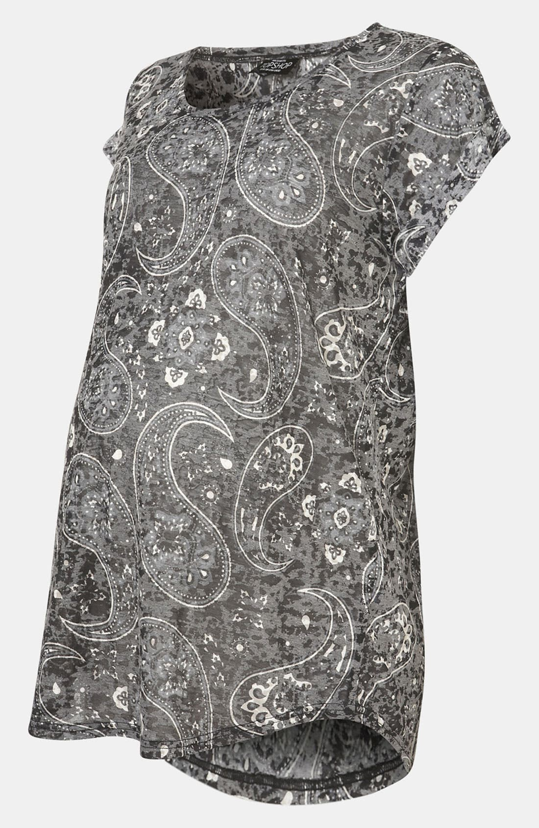 Alternate Image 2  - Topshop 'Bold' Paisley Burnout  Maternity Tee