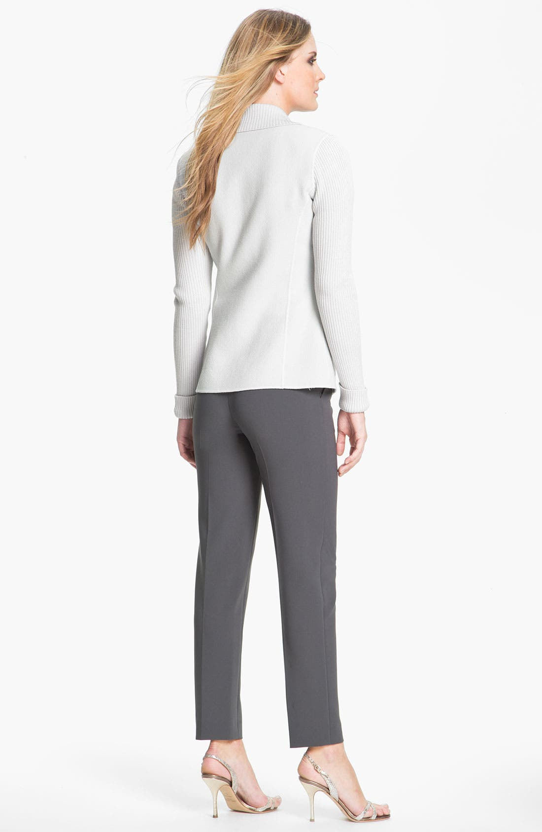 Alternate Image 4  - St. John Collection 'Emma' Crepe Marocain Crop Pants