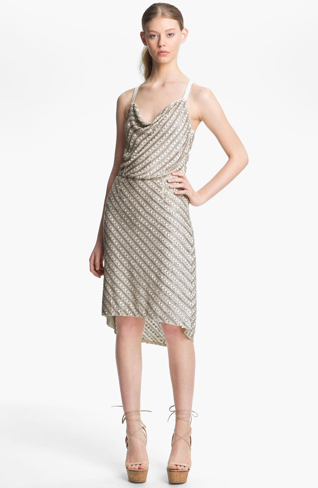 Main Image - Tracy Reese Beaded Silk Racerback Slip Dress