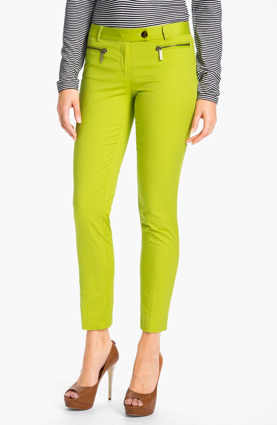 Main Image - MICHAEL Michael Kors Zip Pocket Ankle Pants