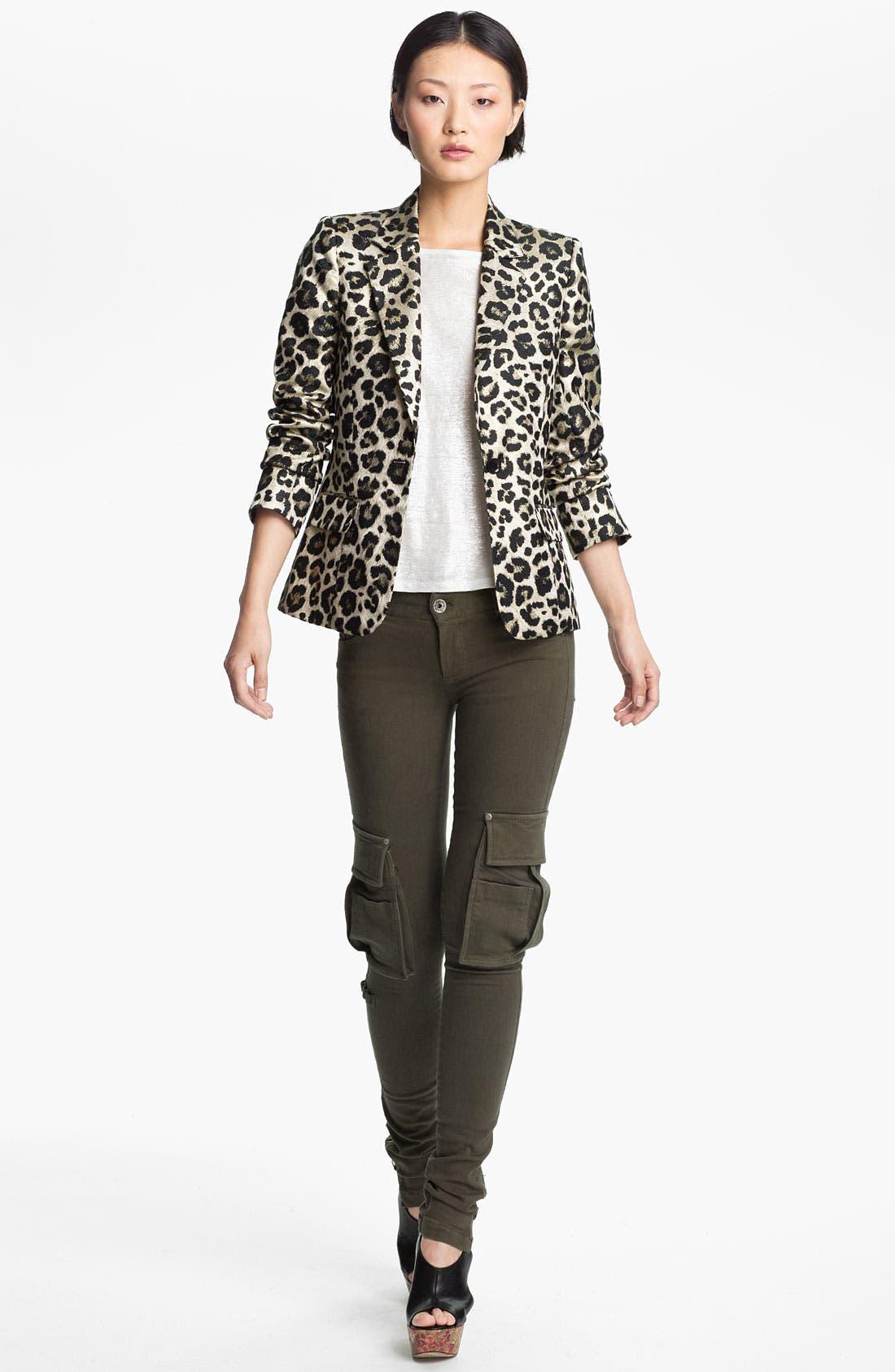 Main Image - Alice + Olivia 'Elyse' Leopard Print Blazer