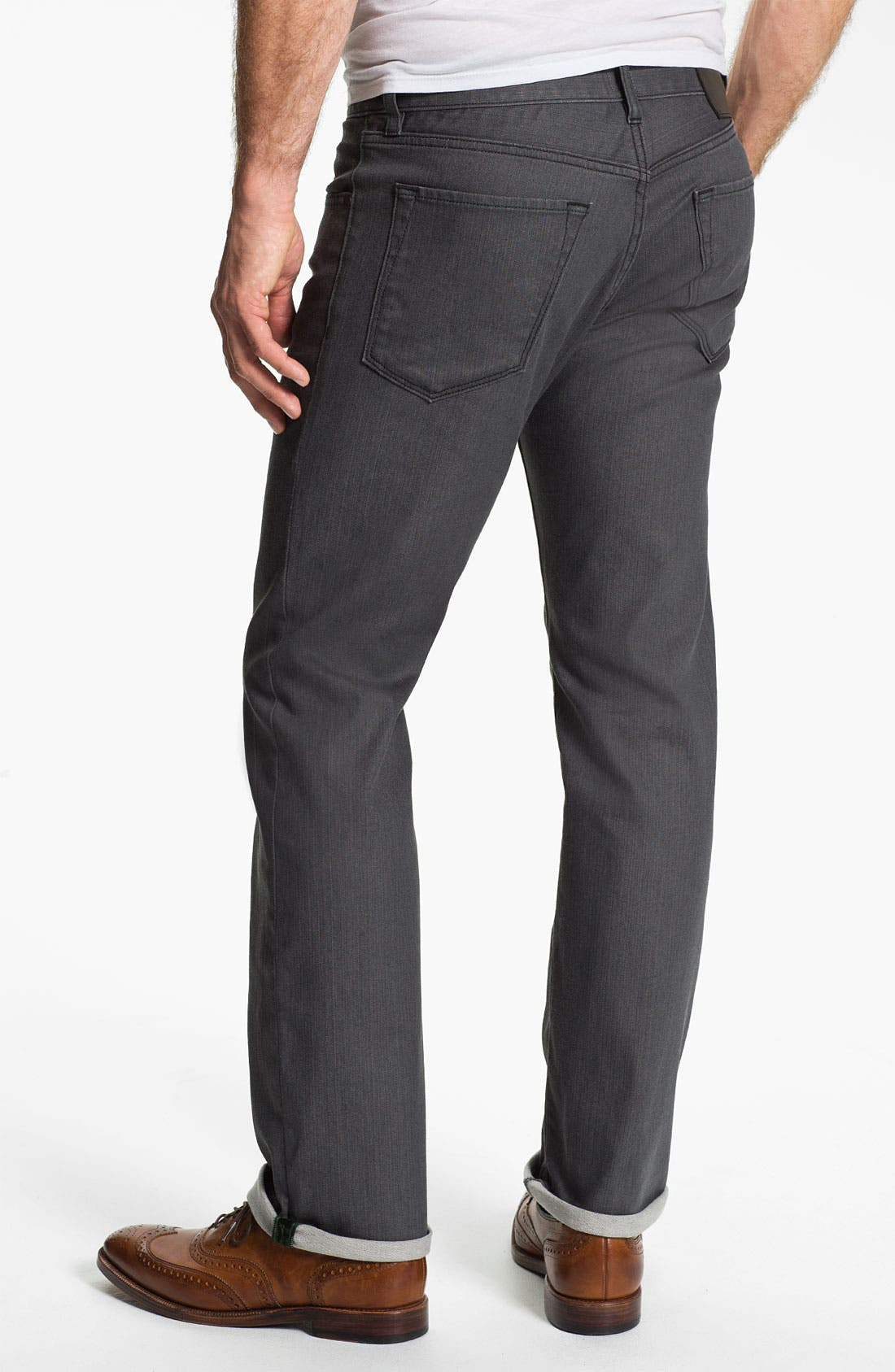 Alternate Image 2  - BOSS Black 'Maine' Straight Leg Jeans (Grey Denim)