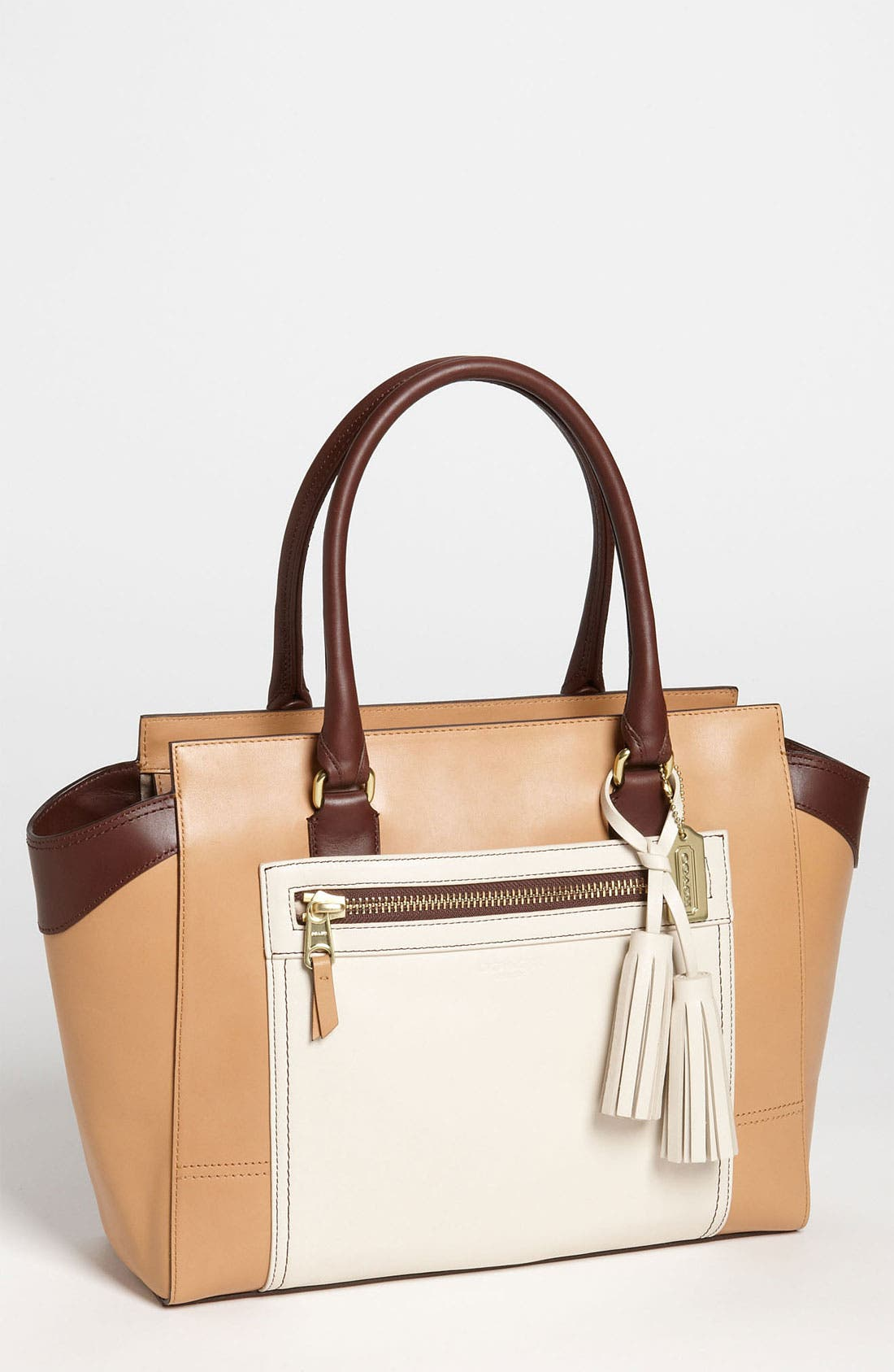 Alternate Image 1 Selected - COACH 'Legacy Colorblock Candace - Medium' Leather Carryall