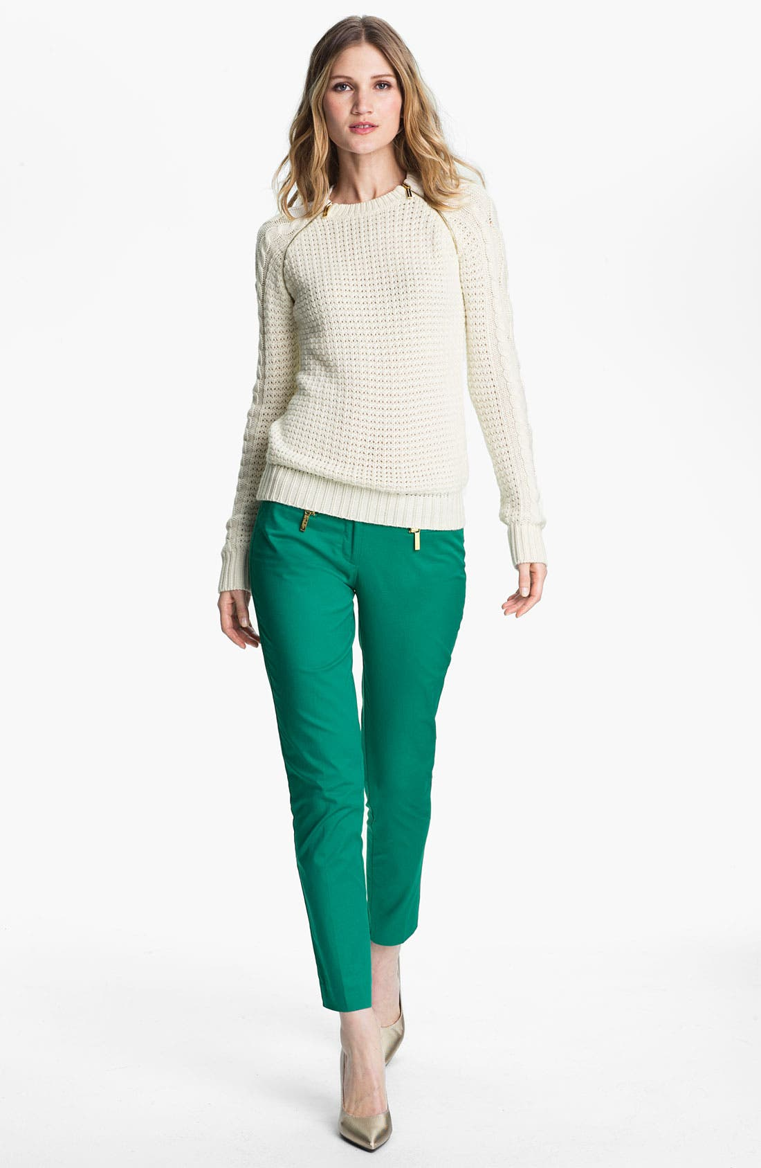 Alternate Image 4  - MICHAEL Michael Kors Zip Pocket Ankle Pants (Petite)