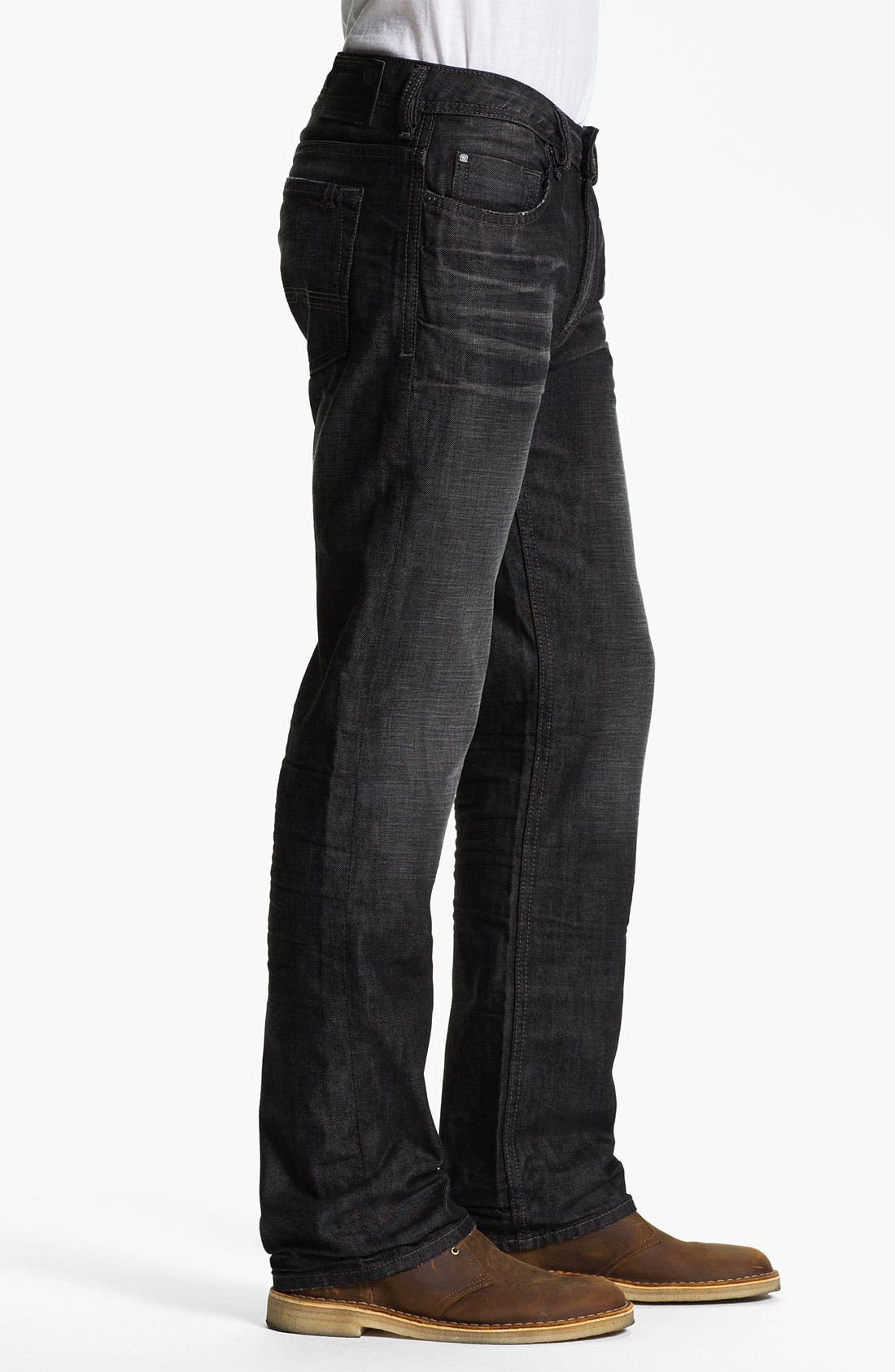 Alternate Image 3  - Buffalo Jeans 'Driven' Straight Leg Jeans (Dark/Washed)