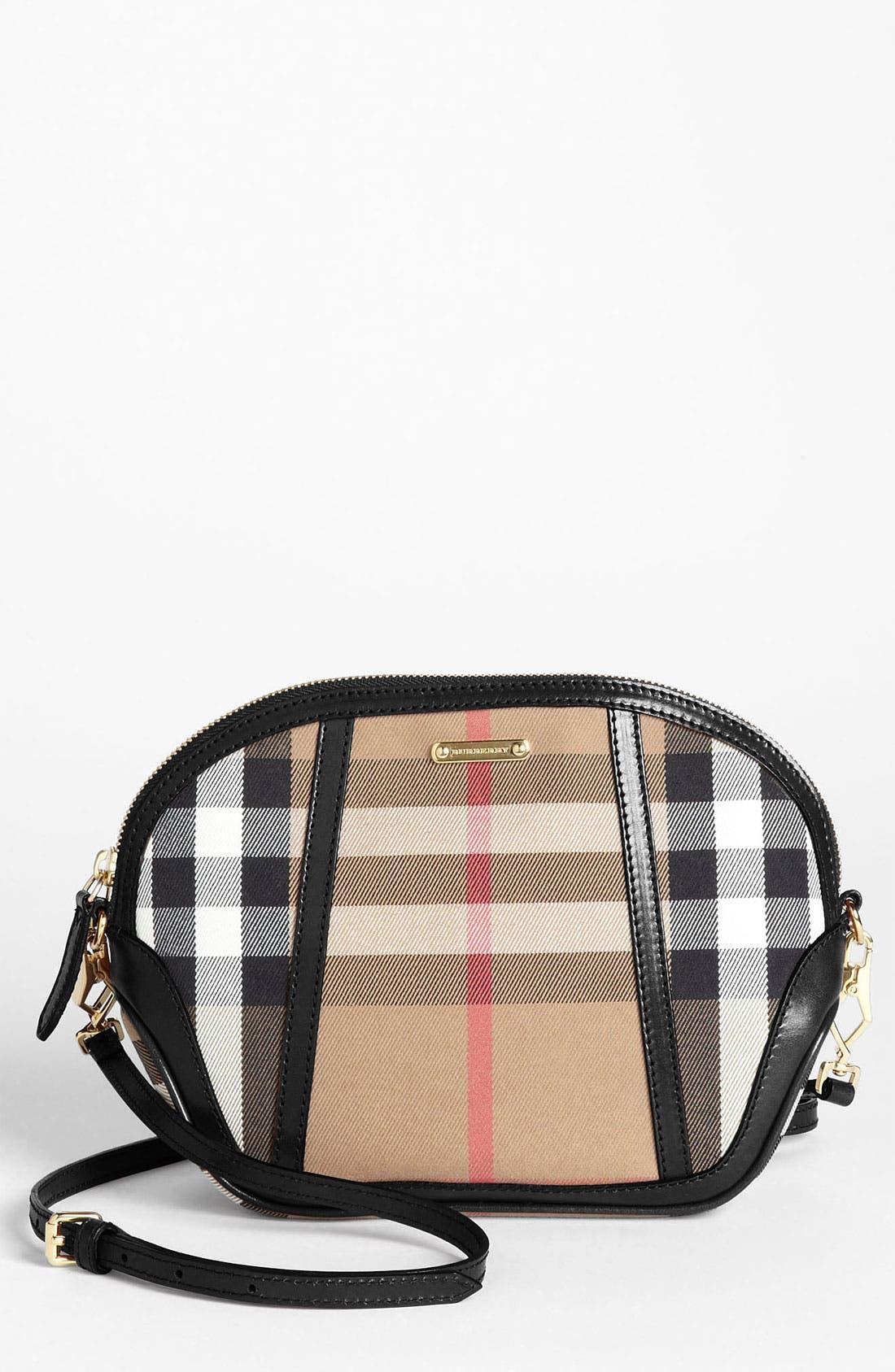 Alternate Image 1 Selected - Burberry 'House Check' Crossbody Bag, Small