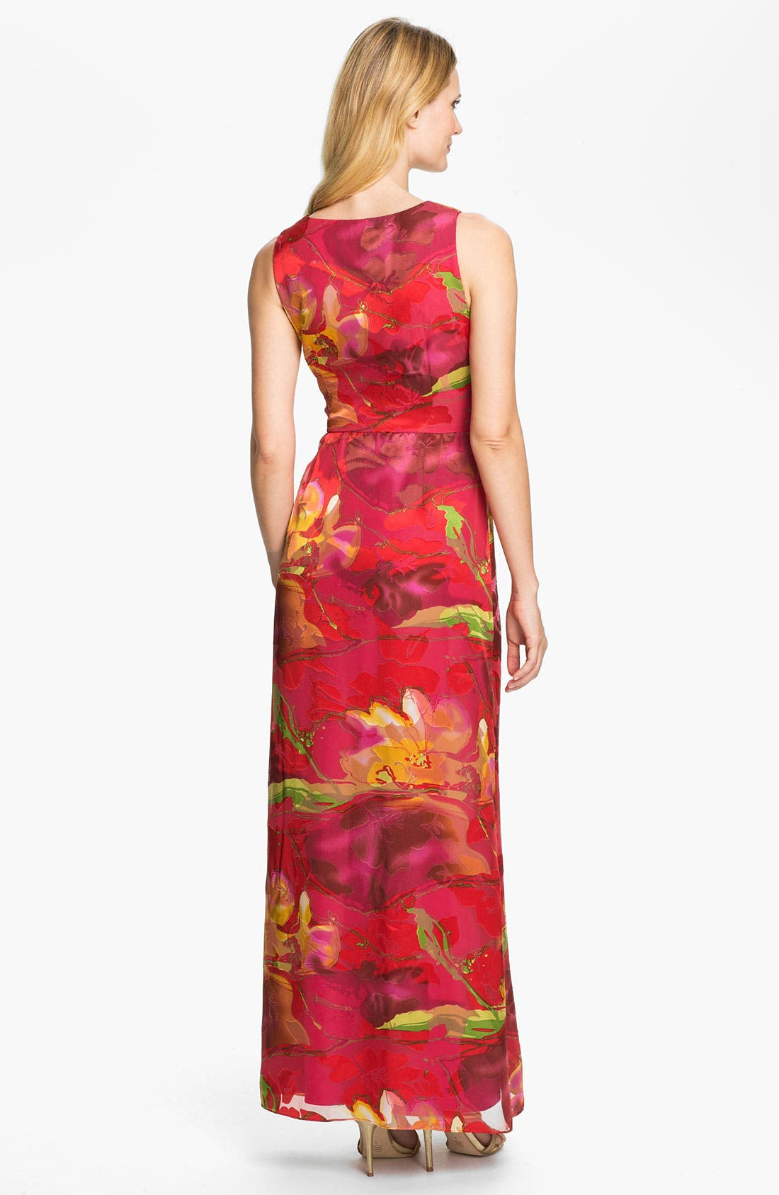Alternate Image 2  - Donna Ricco Surplice Print Maxi Dress