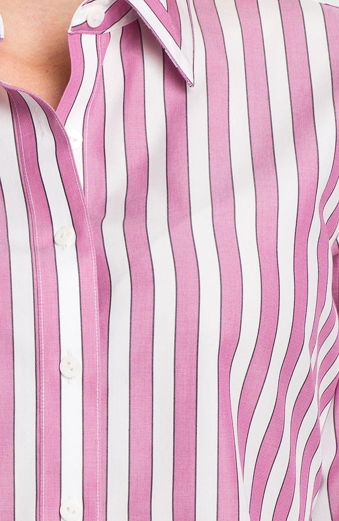 Alternate Image 3  - Foxcroft Bold Stripe Shirt