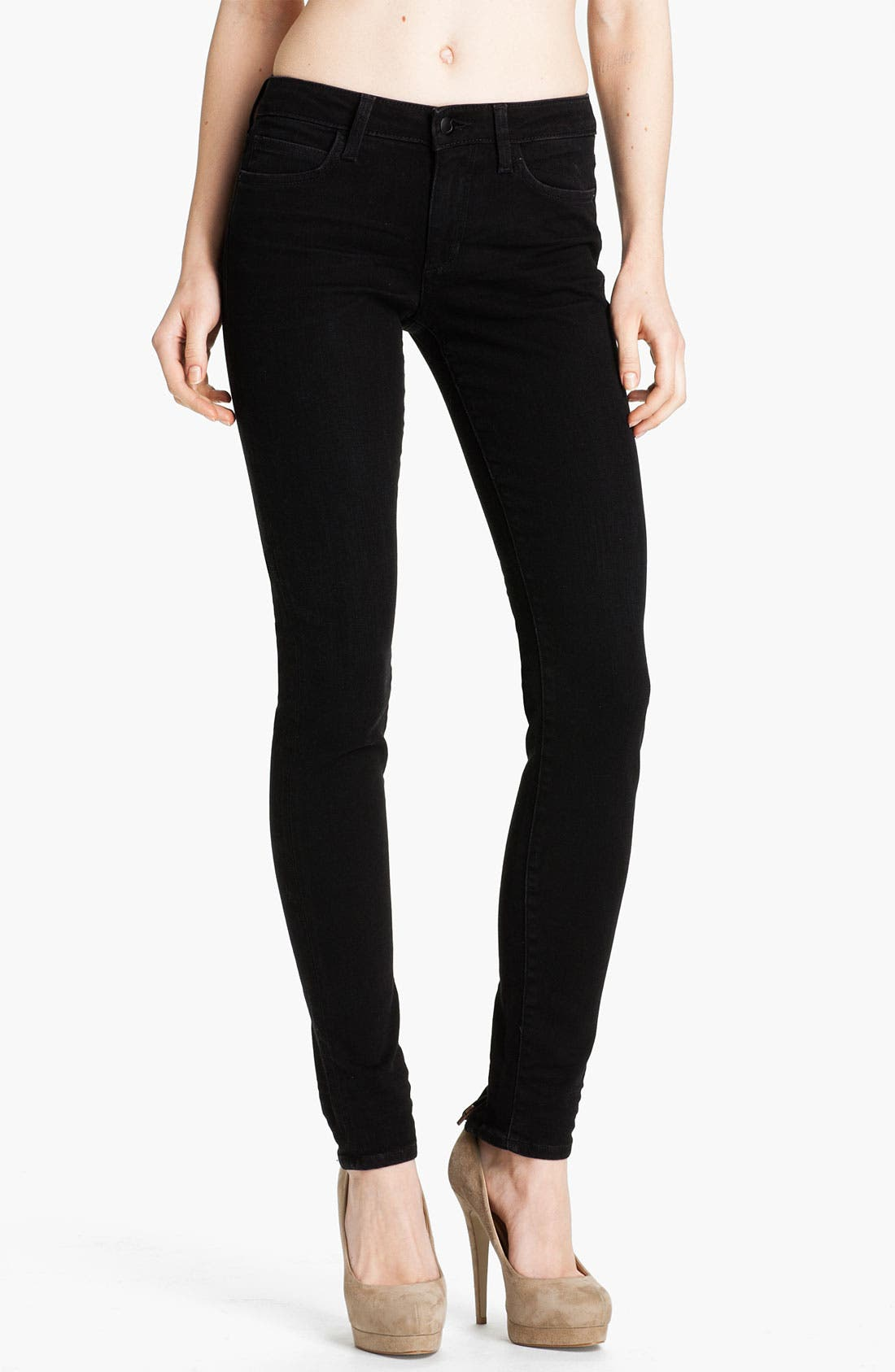 Alternate Image 1 Selected - Joe's Ankle Zip Skinny Jeans (Norah Black)