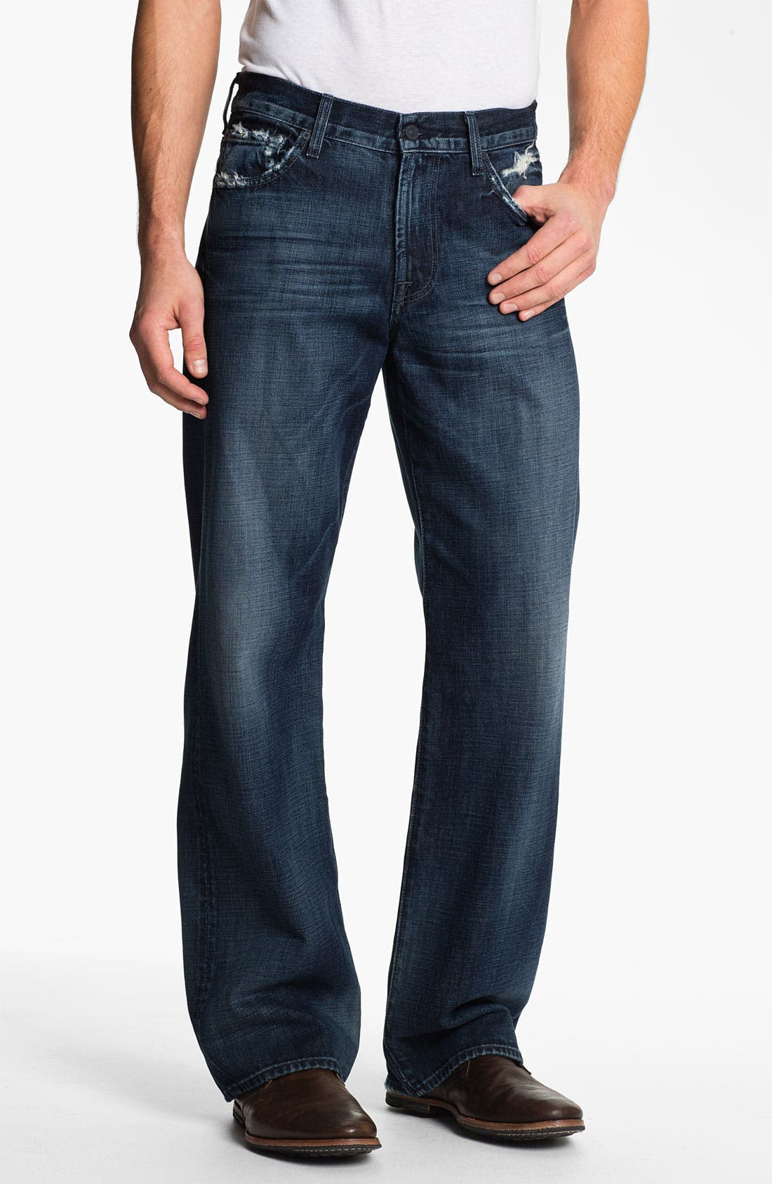 Alternate Image 2  - 7 For All Mankind® Relaxed Fit Jeans (Kool Nite)