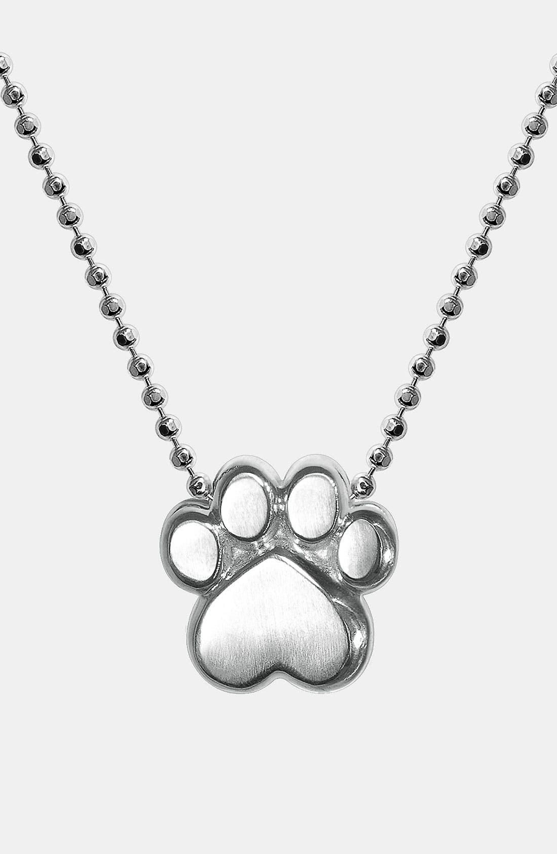 Alternate Image 1 Selected - Alex Woo 'Little Activist' Paw Pendant Necklace