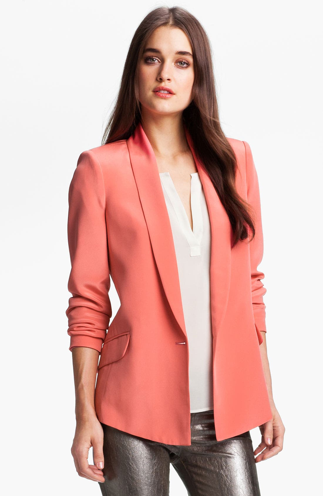 Main Image - Truth and Pride Shawl Collar Silk Blazer