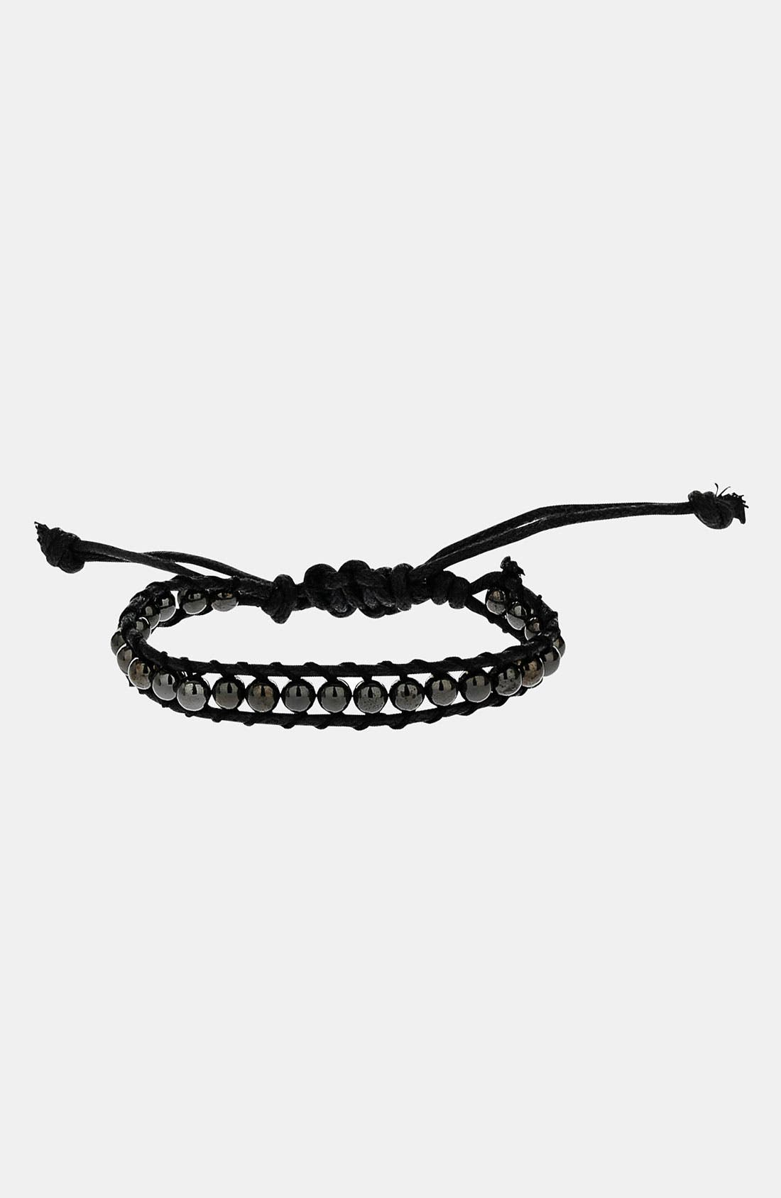 Alternate Image 1 Selected - Topman Beaded Cord Bracelet