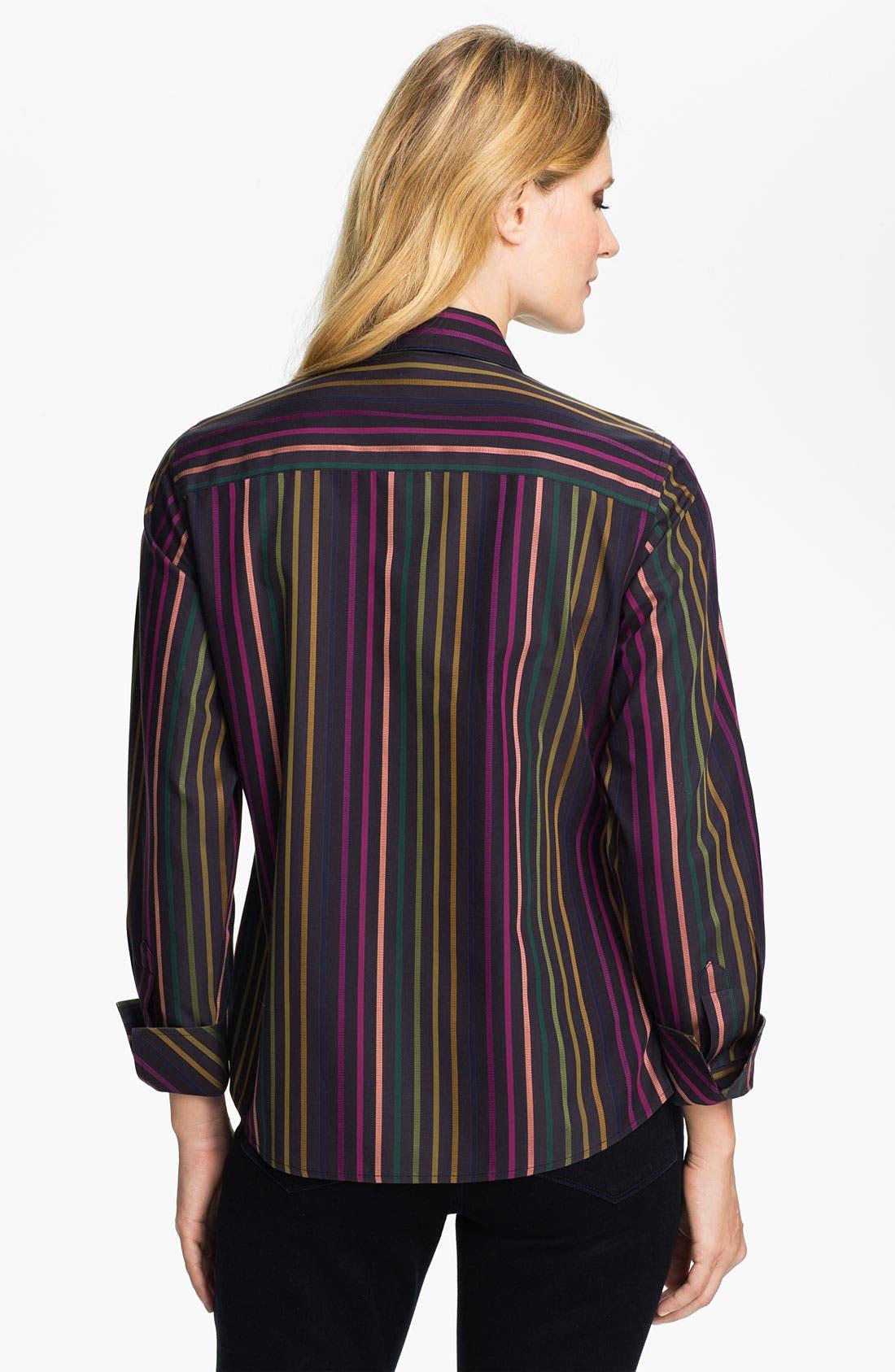 Alternate Image 2  - Foxcroft 'Jewel Stripe' Shirt
