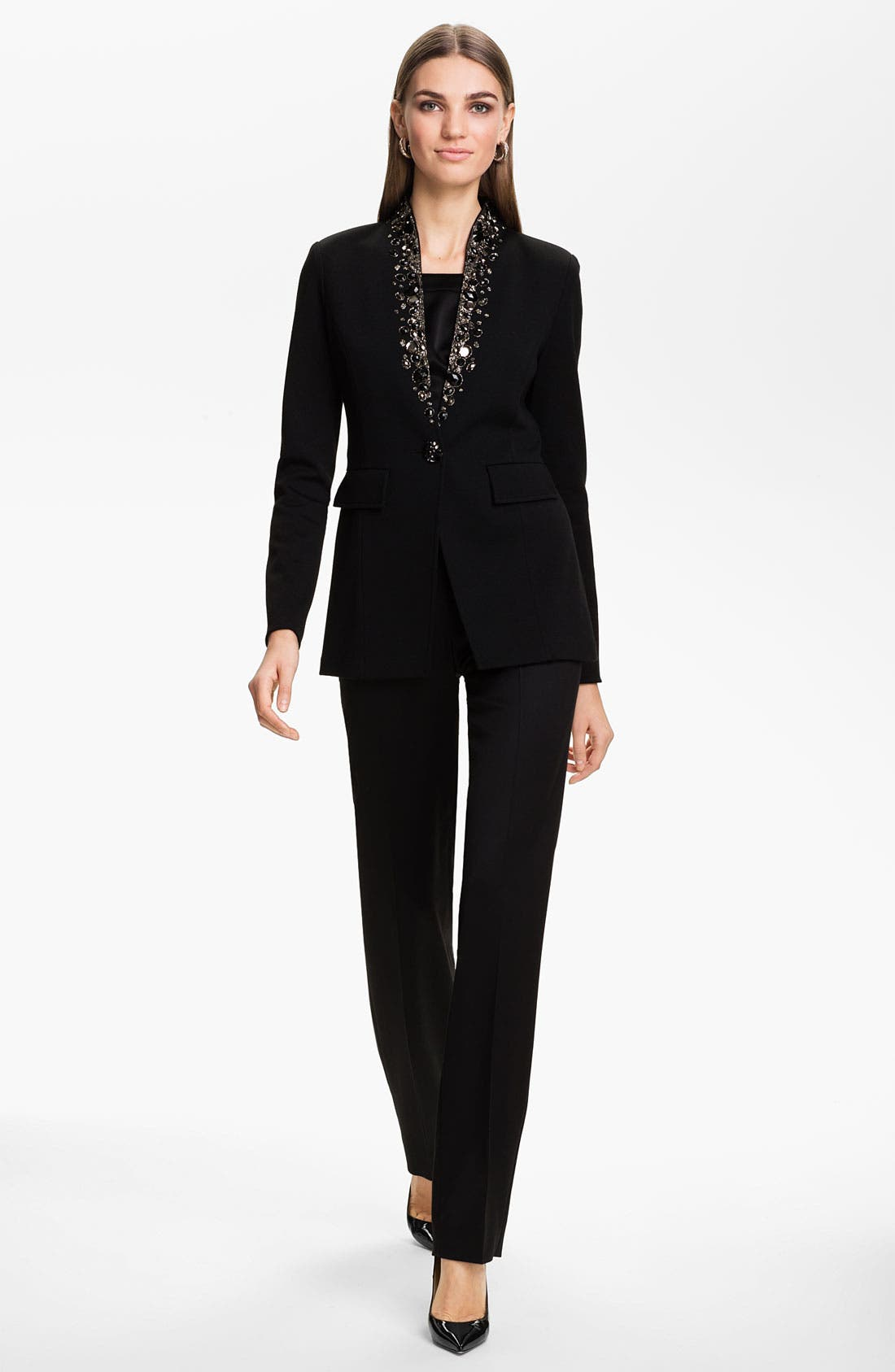 Alternate Image 4  - St. John Collection 'Diana' Stretch Venetian Wool Pants