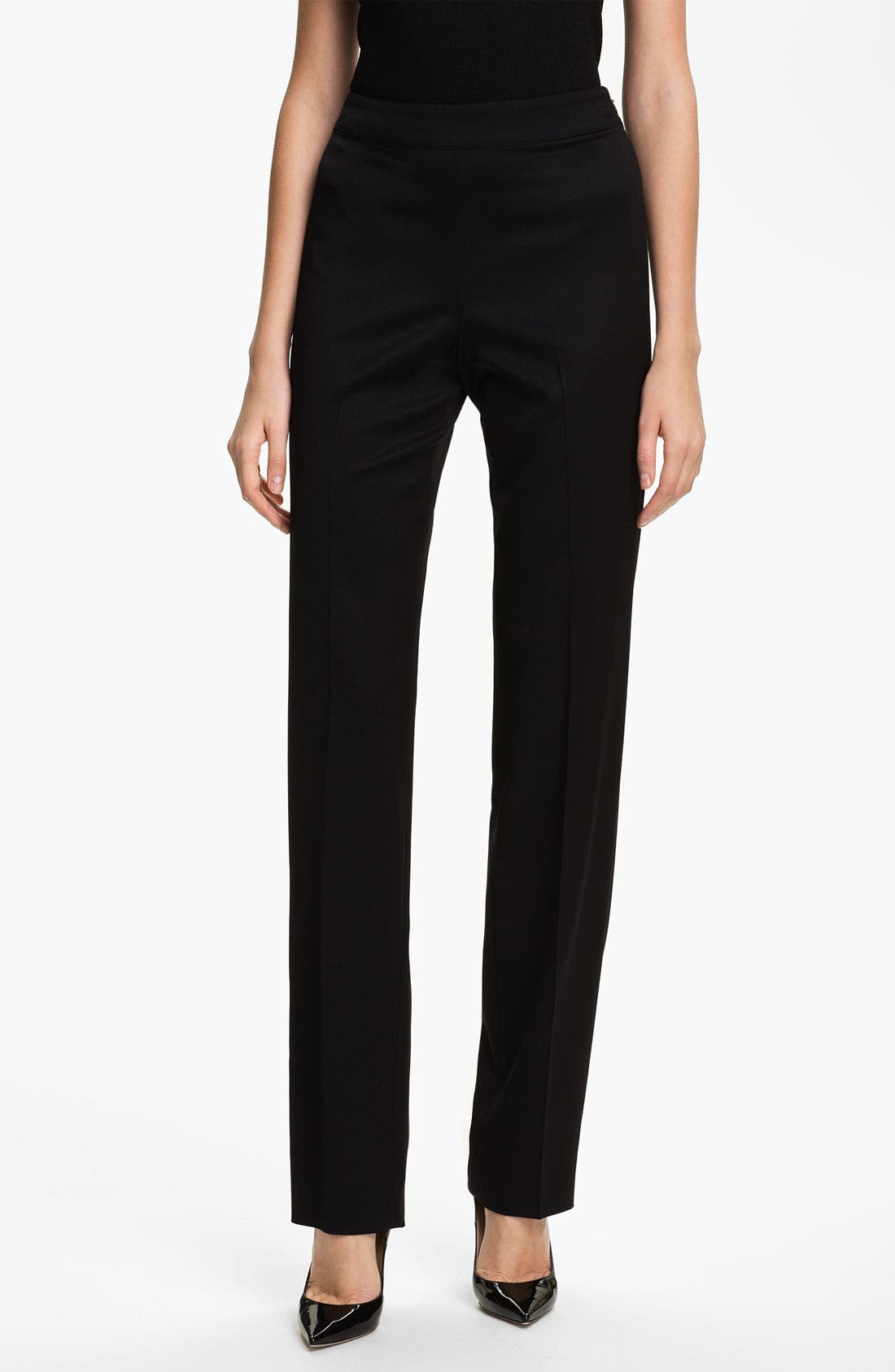 Main Image - St. John Collection 'Diana' Stretch Venetian Wool Pants