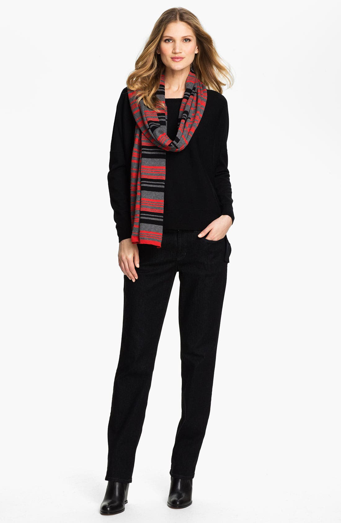 Alternate Image 2  - Eileen Fisher Organic Cotton & Cashmere Scarf