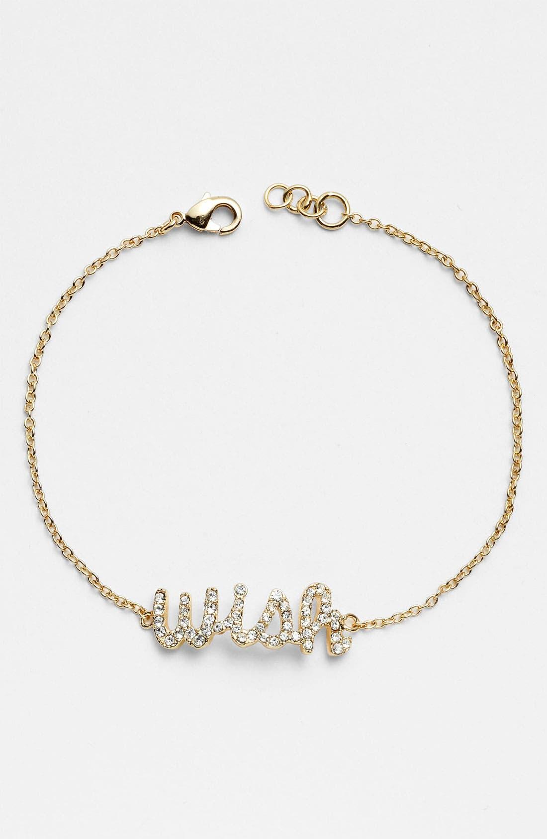 Main Image - Ariella Collection 'Messages - Wish' Script Station Bracelet