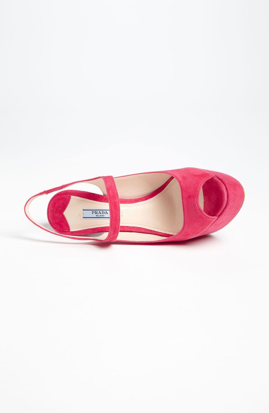 Alternate Image 3  - Prada Peep Toe Slingback Sandal