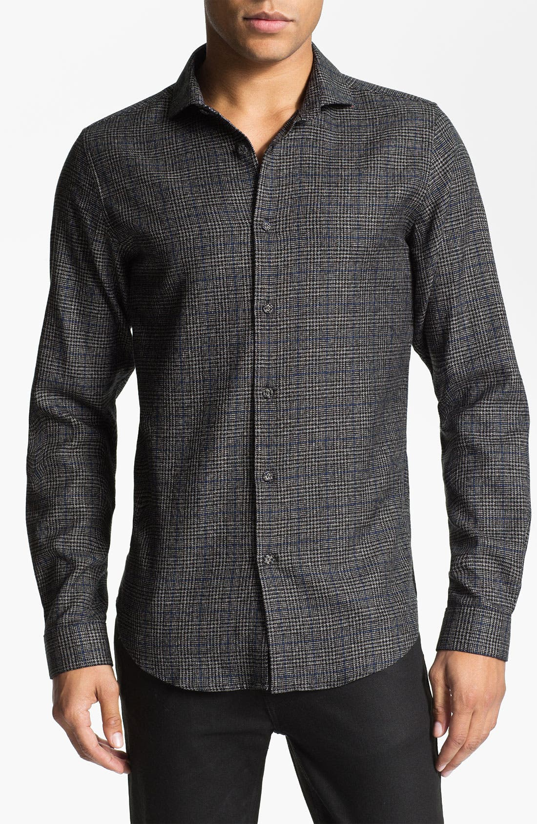 Main Image - PLECTRUM by Ben Sherman Plaid Woven Shirt