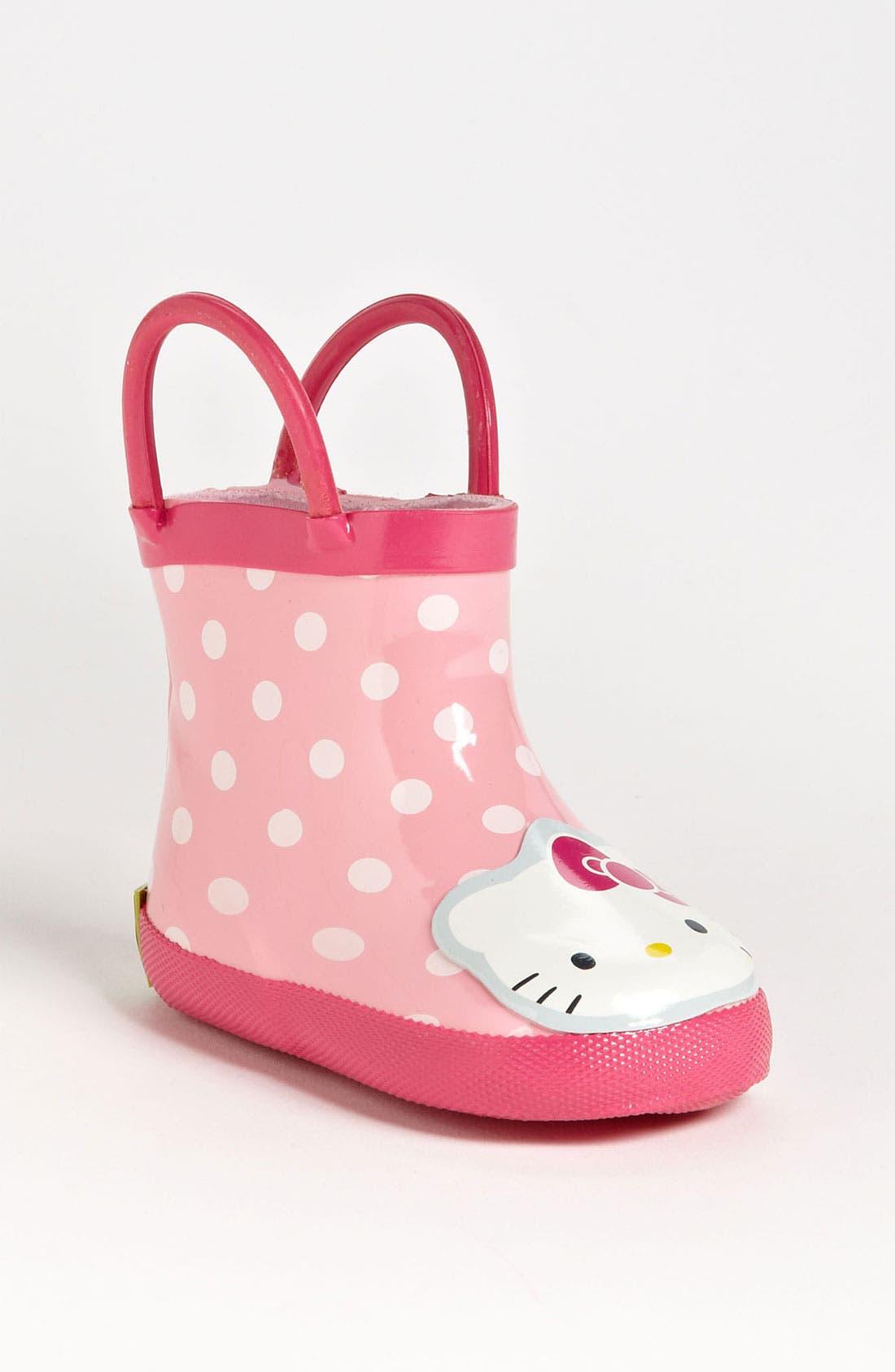 Main Image - Western Chief 'Hello Kitty®' Rain Boot (Baby)