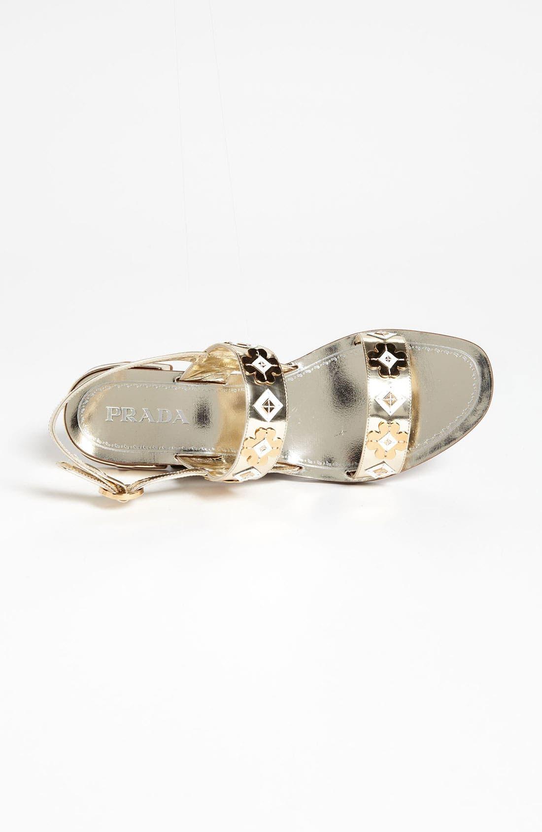 Alternate Image 4  - Prada Two Strap Appliqué Sandal