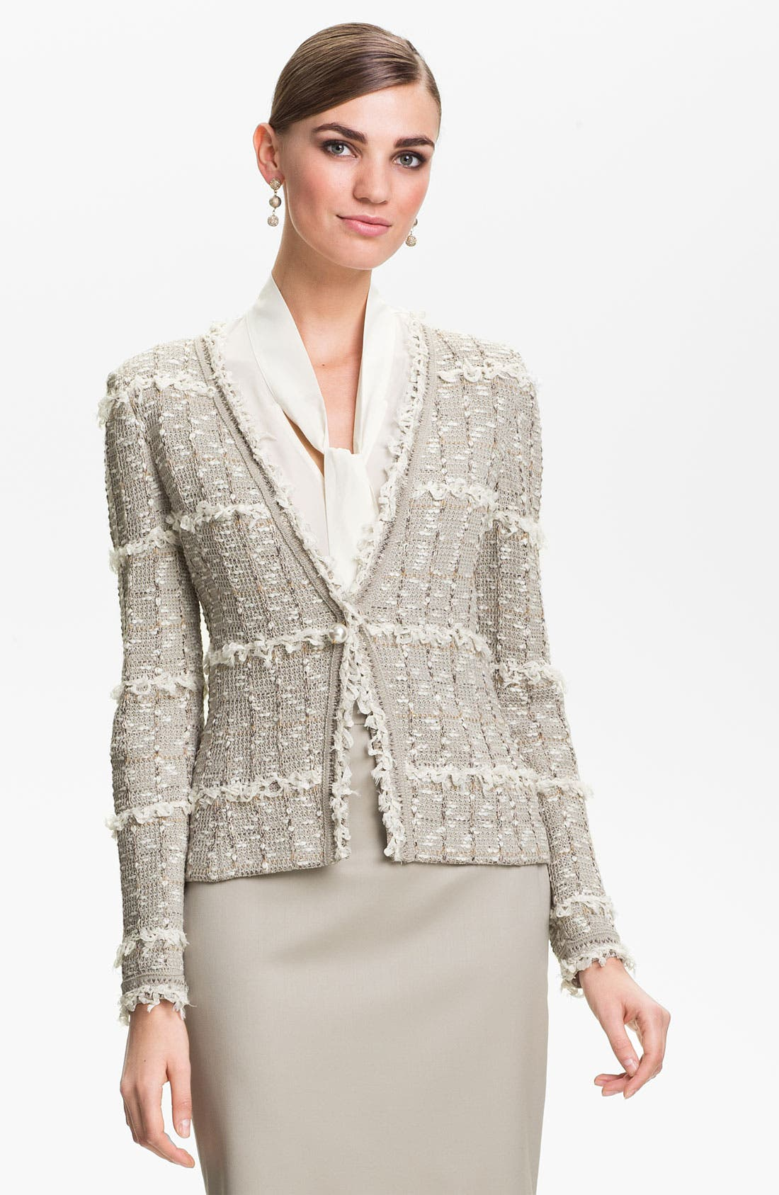 Alternate Image 1 Selected - St. John Collection Positano Tweed Knit Jacket