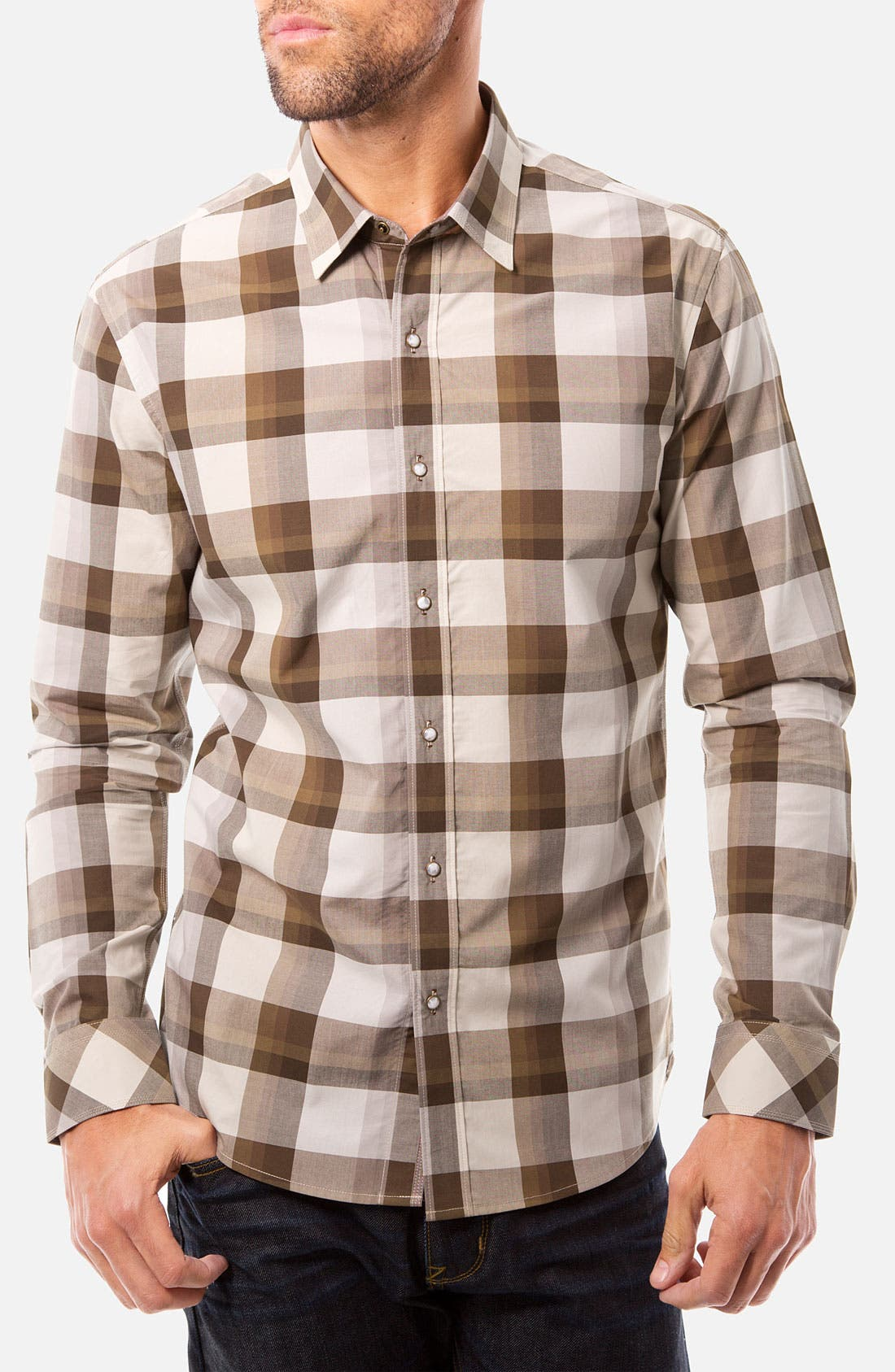 Alternate Image 1 Selected - 7 Diamonds 'Valley of Tomorrow' Woven Sport Shirt