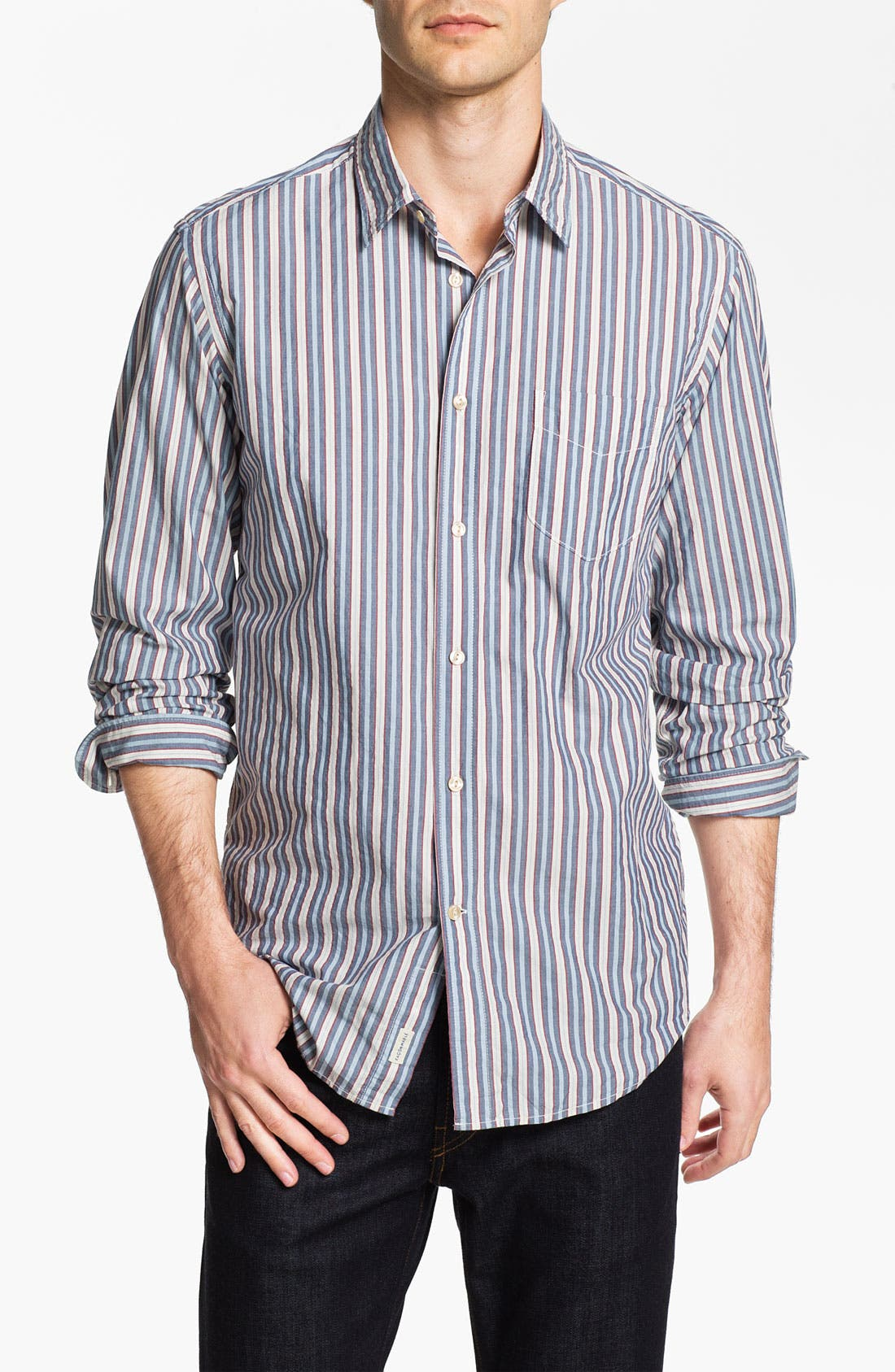 Alternate Image 1 Selected - Façonnable Tailored Denim Regular Fit Sport Shirt