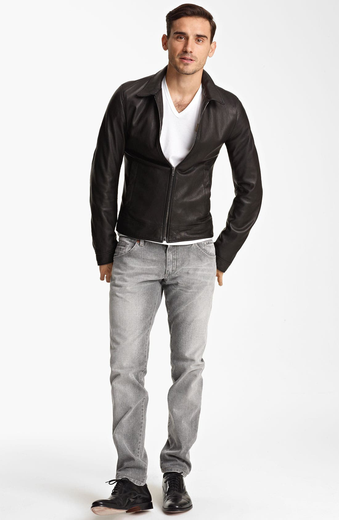Alternate Image 4  - Dolce&Gabbana Leather Biker Jacket