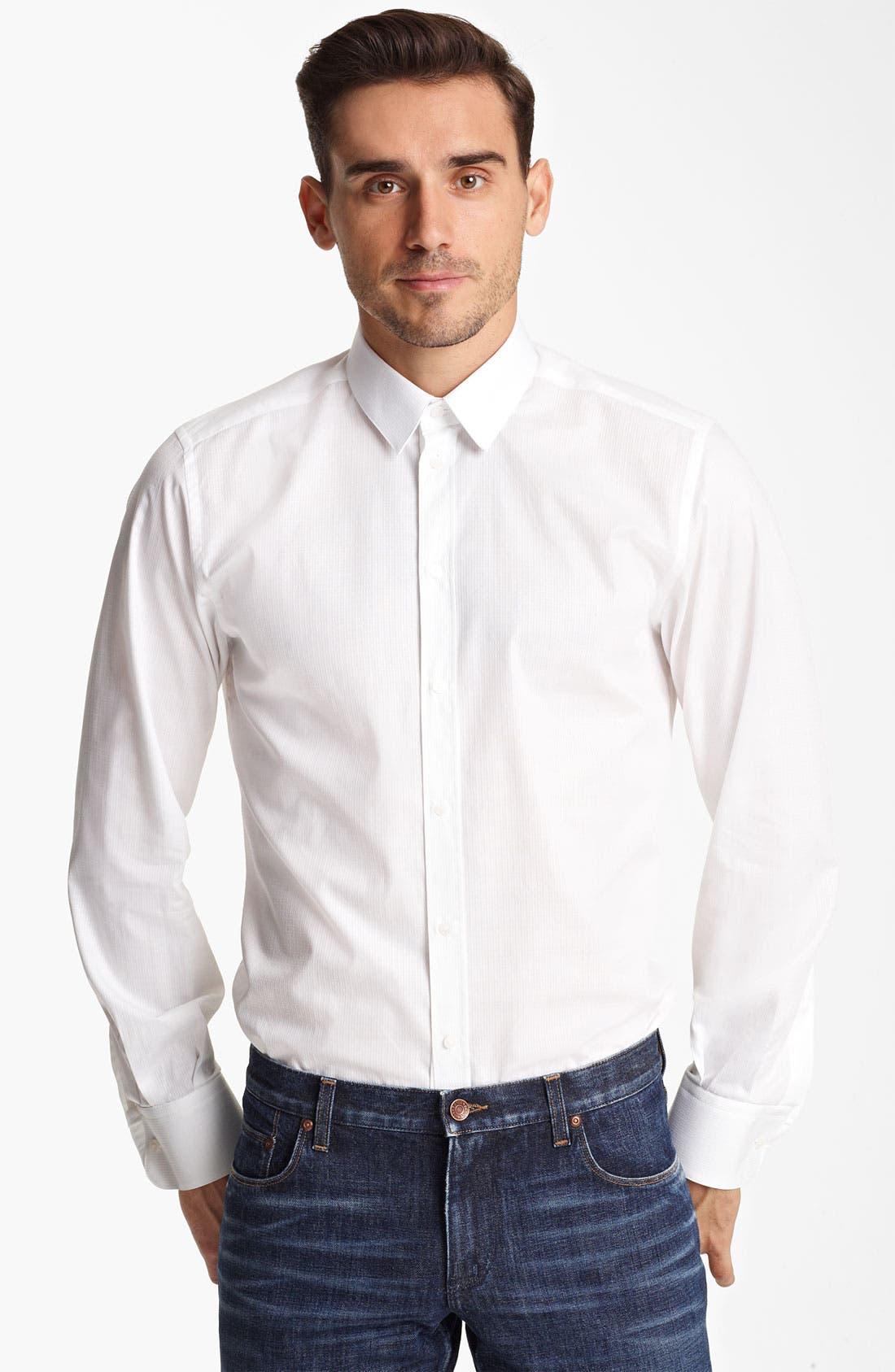 Main Image - Dolce&Gabbana Texture Stripe Dress Shirt
