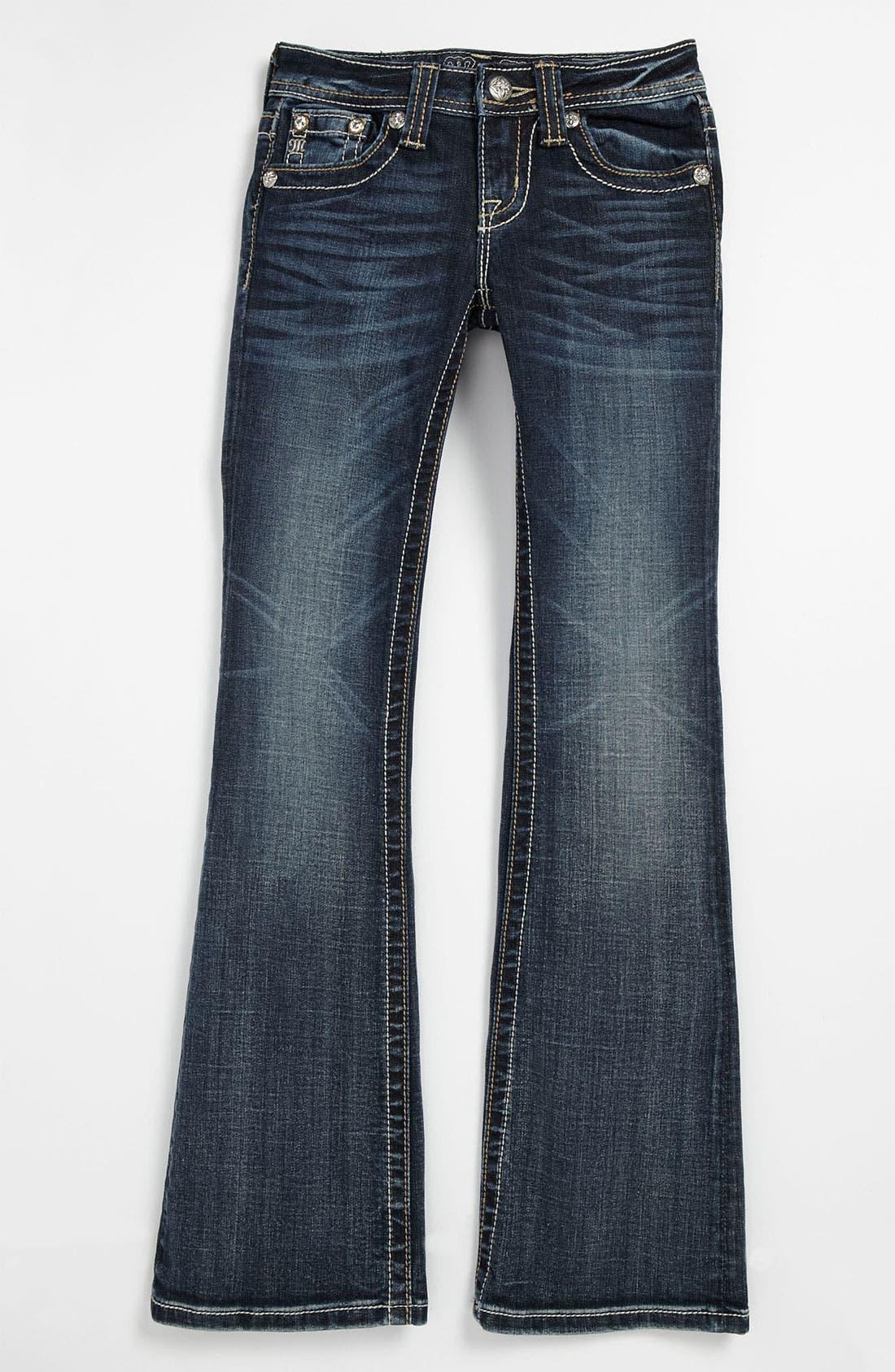 Alternate Image 2  - Miss Me 'Horseshoe' Bootcut Jeans (Big Girls)