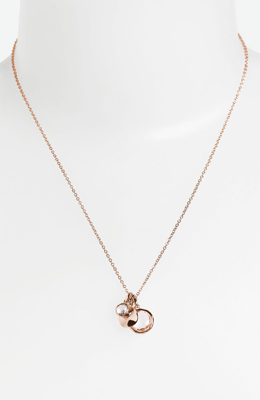 Main Image - Ippolita 'Rock Candy' Rosé Triple Charm Necklace