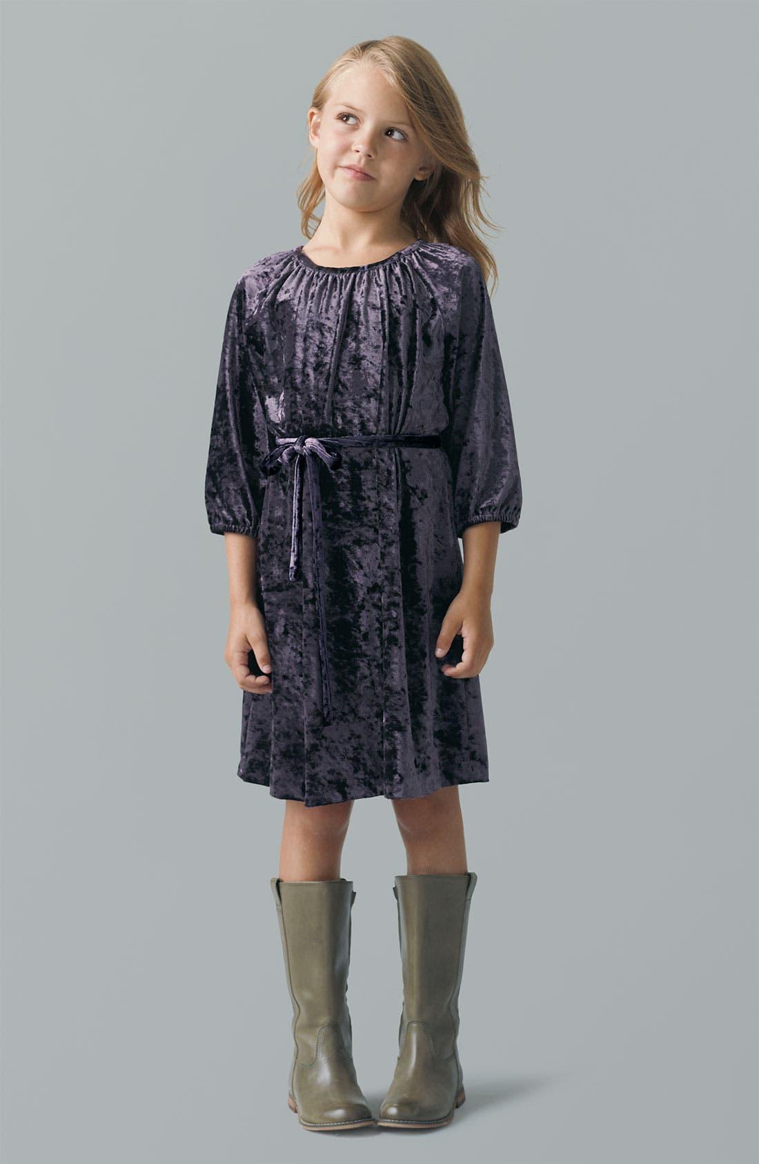 Main Image - Peek Dress & Riding Boot (Toddler, Little Girls & Big Girls)