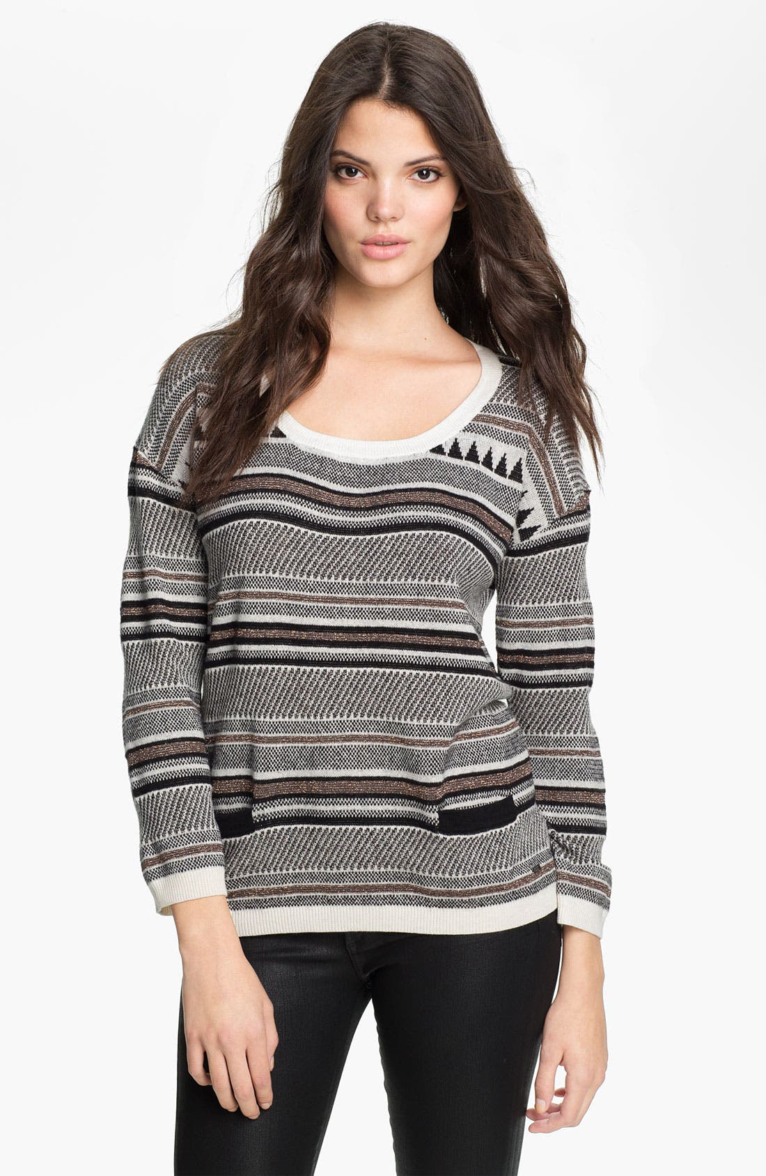 Alternate Image 1 Selected - Maison Scotch Nordic Knit Sweater