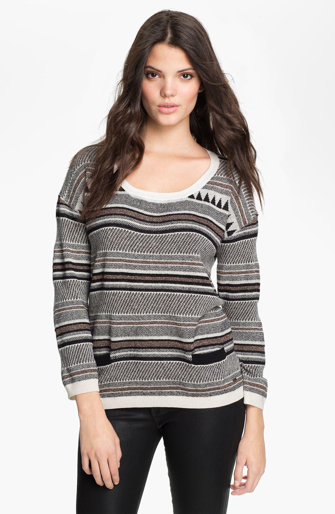 Main Image - Maison Scotch Nordic Knit Sweater