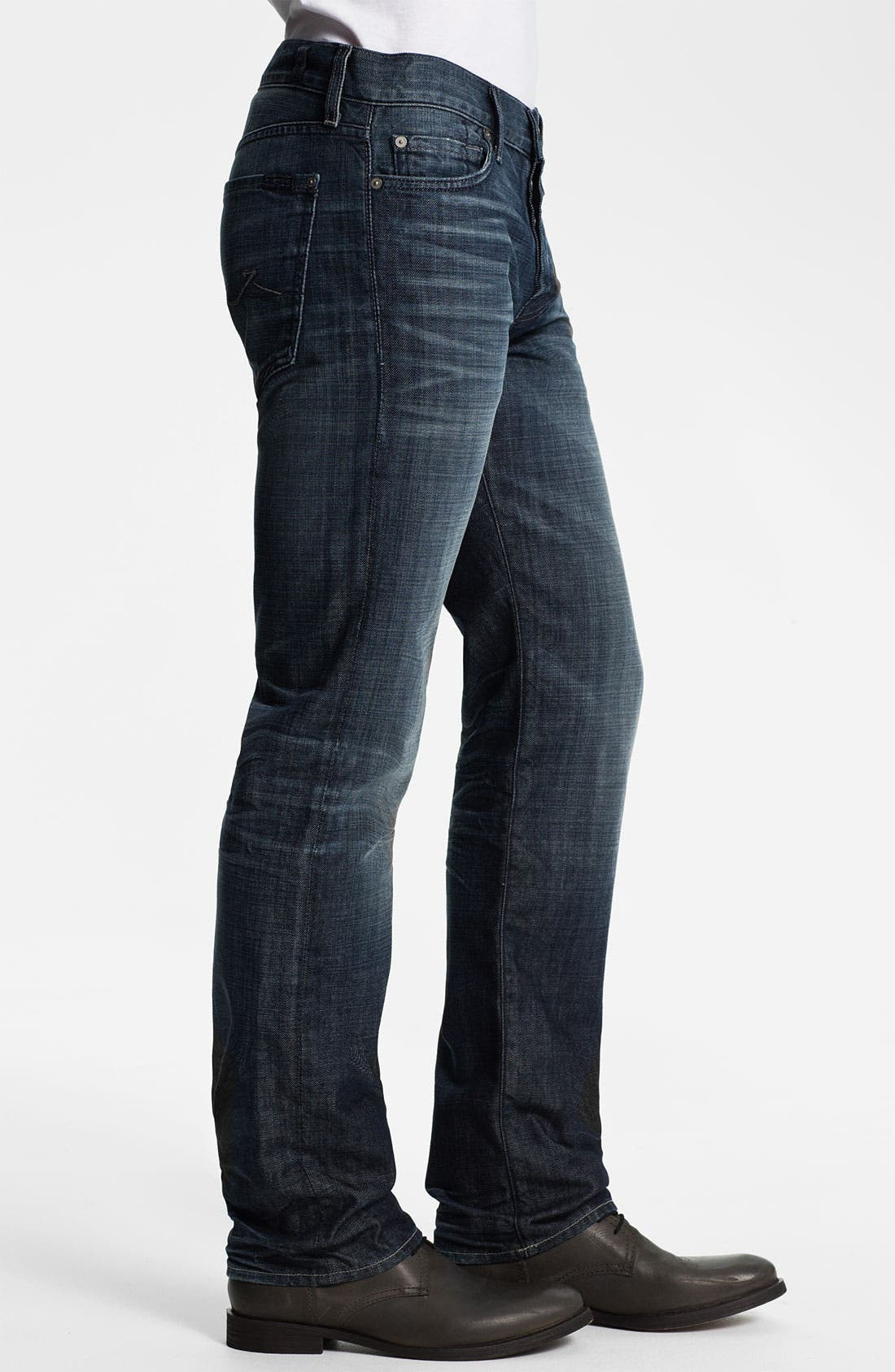 Alternate Image 3  - 7 For All Mankind® 'Standard' Straight Leg Jeans (Crater Lake)