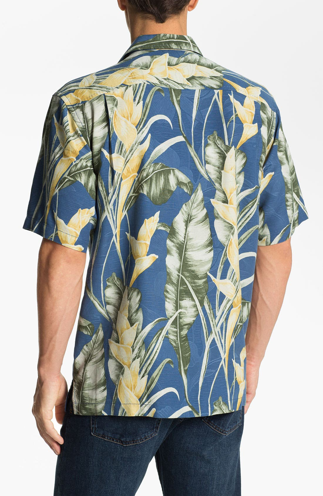 Alternate Image 2  - Tommy Bahama 'Wind Waves' Silk Campshirt (Big & Tall) (Online Only)