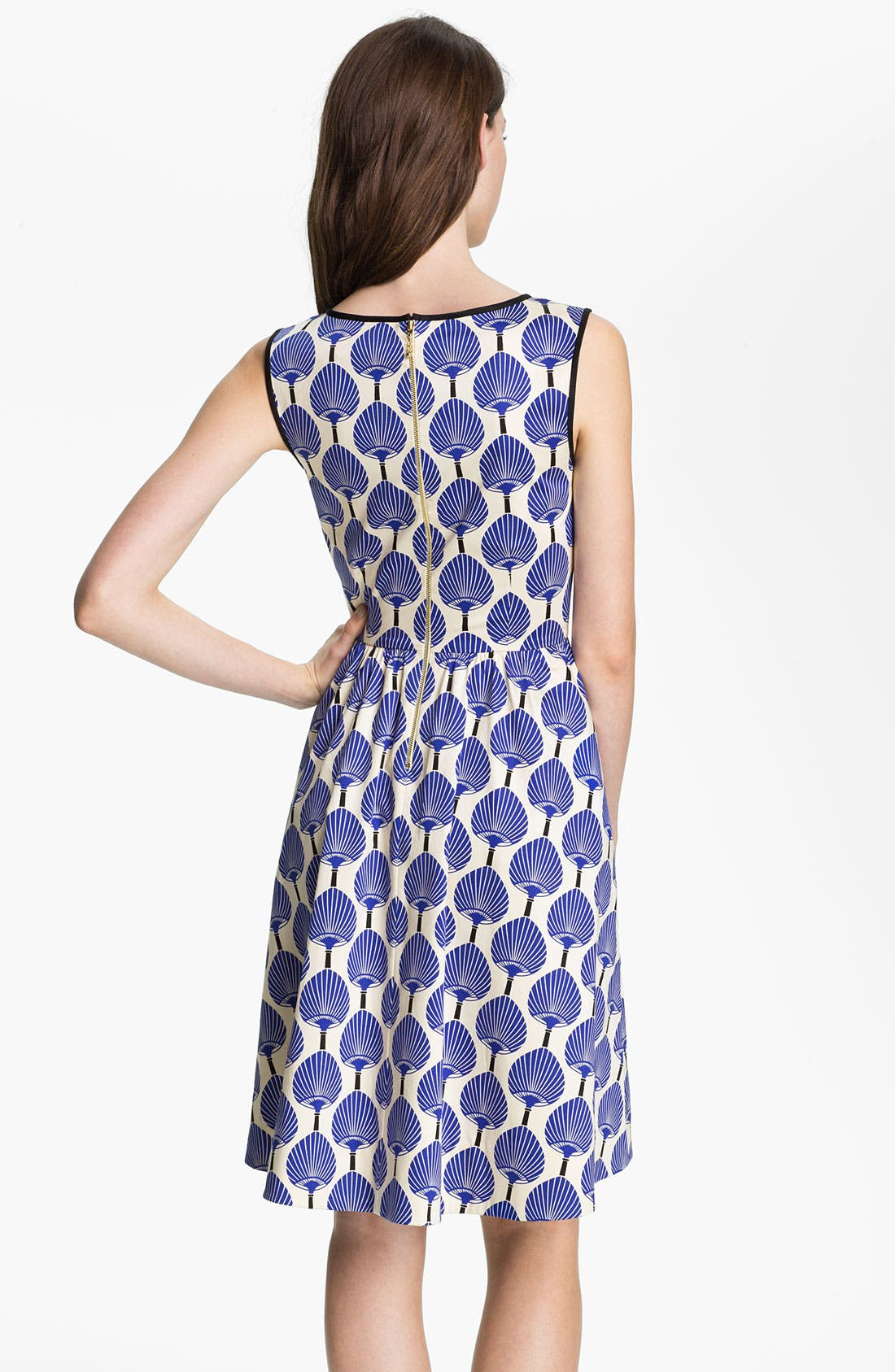 Alternate Image 2  - kate spade new york 'matty' stretch cotton fit & flare dress