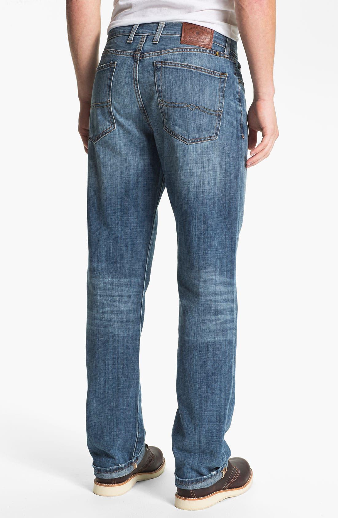 Alternate Image 2  - Lucky Brand '329 Classic' Straight Leg Jeans (Light Gessner)
