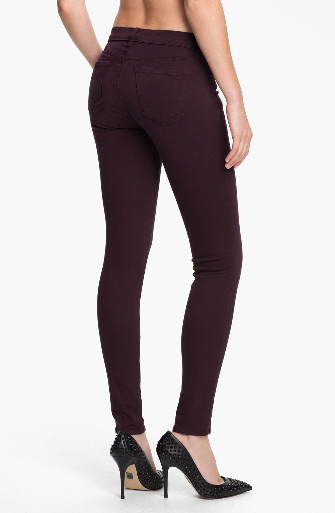 Alternate Image 2  - J Brand Super Skinny Stretch Jeans