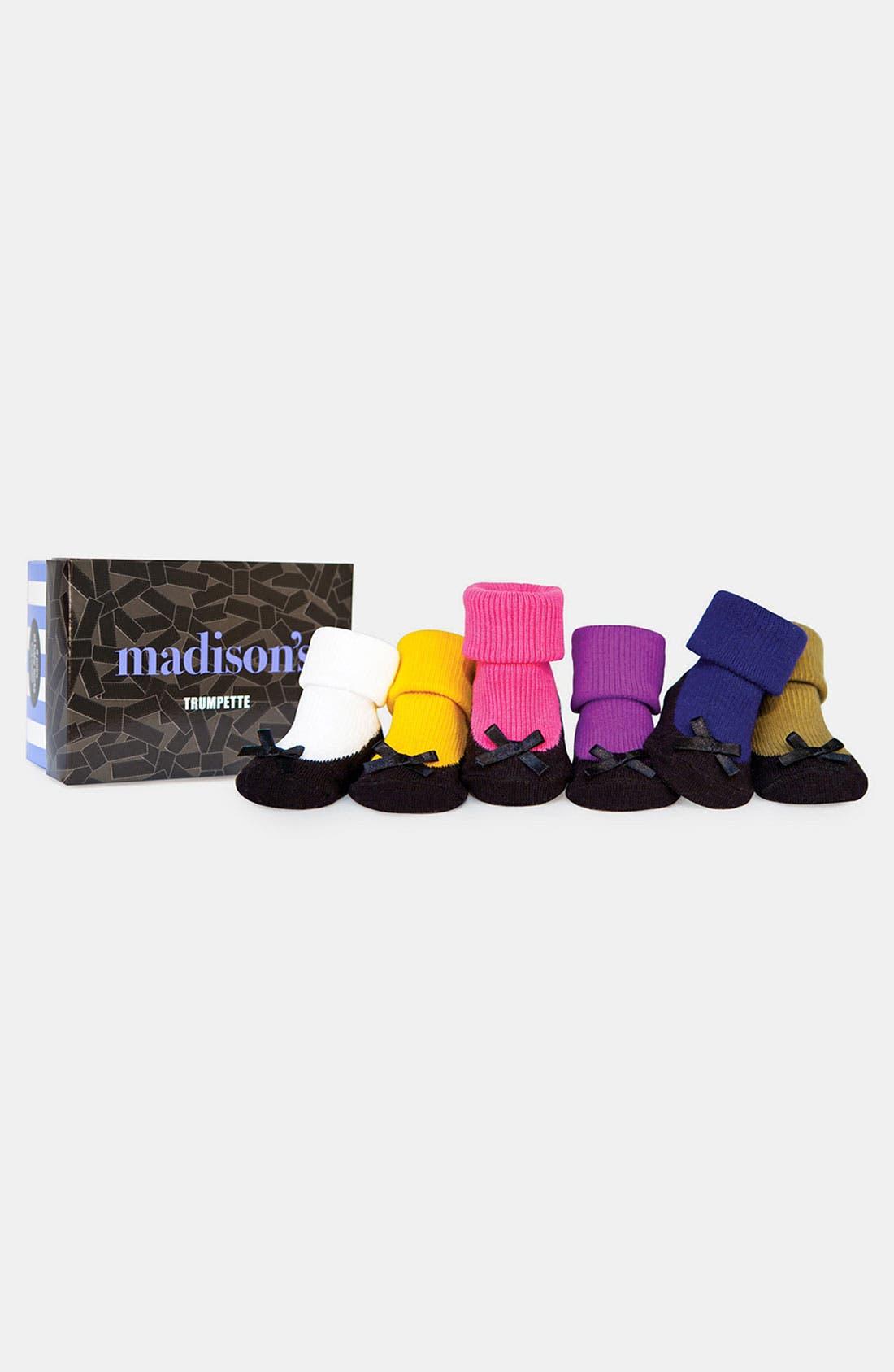 Alternate Image 1 Selected - Trumpette 'Madison's' Socks (6-Pack)(Baby Girls)