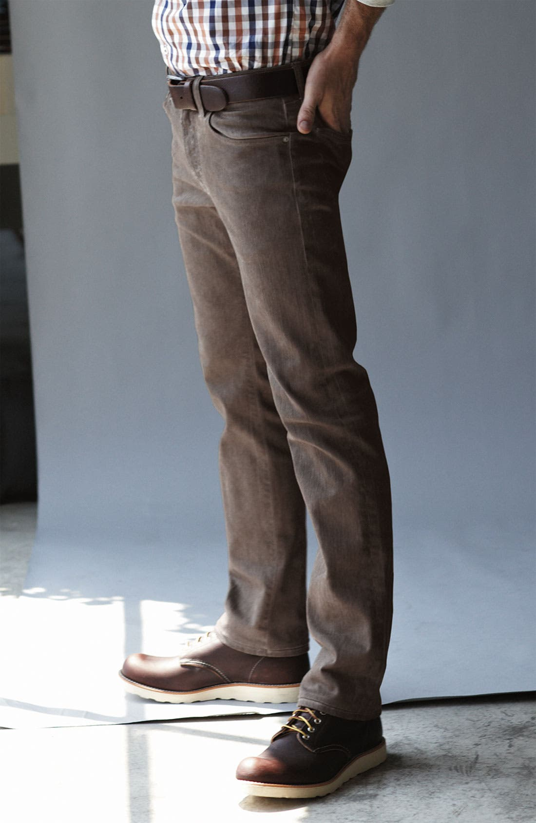 Alternate Image 5  - AG Jeans 'Matchbox' Slim Straight Leg Jeans (Brown Wave)
