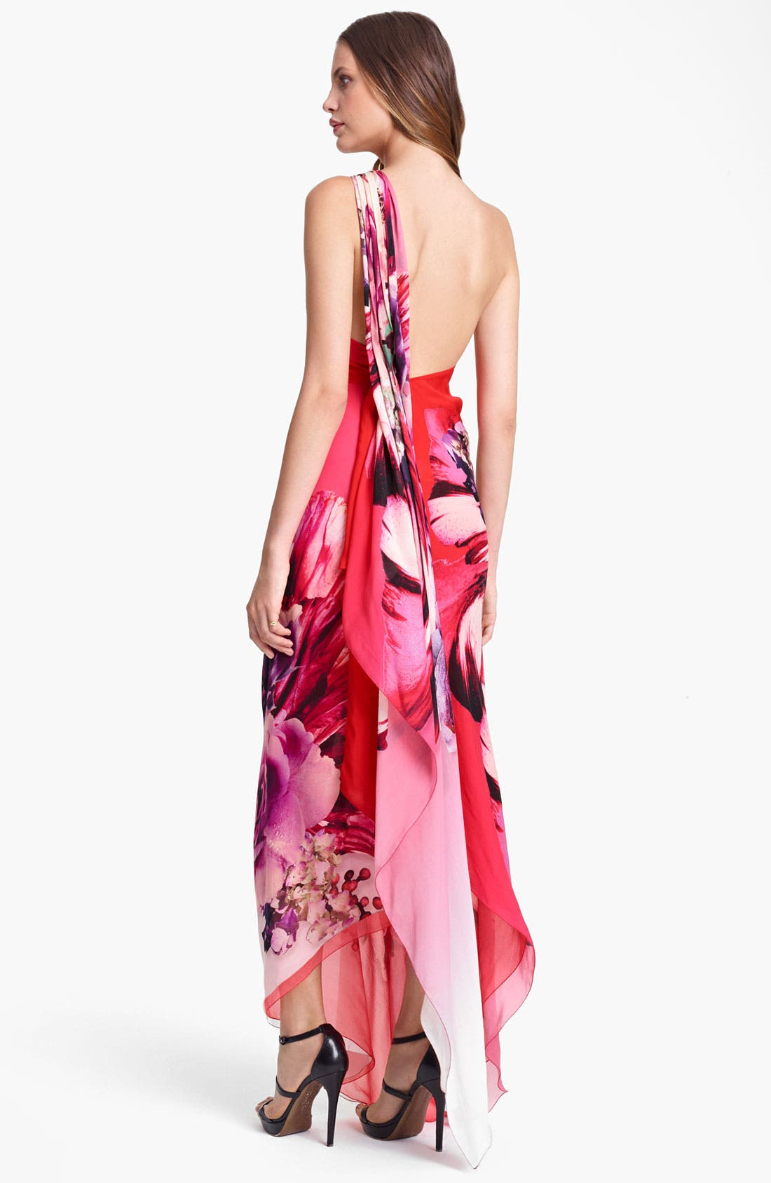 Alternate Image 2  - Roberto Cavalli 'Veronique Print' One Shoulder Chiffon Gown