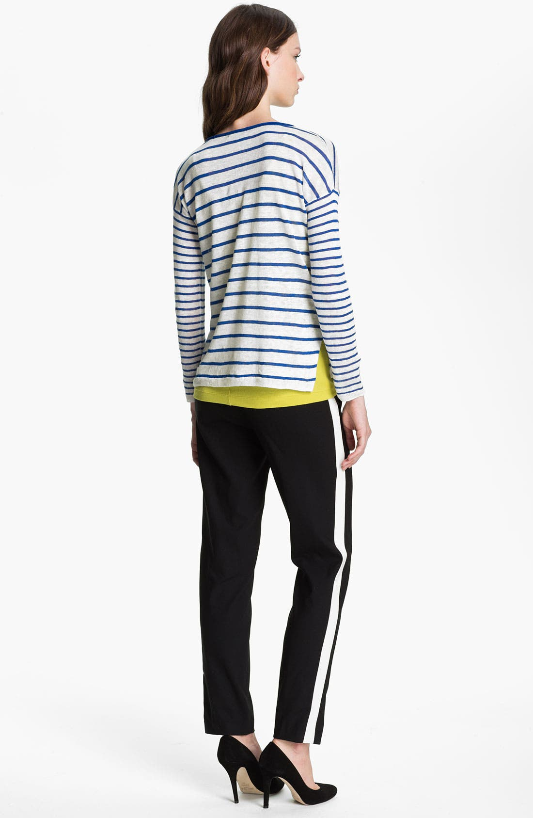 Alternate Image 2  - Vince Mixed Stripe Sweater