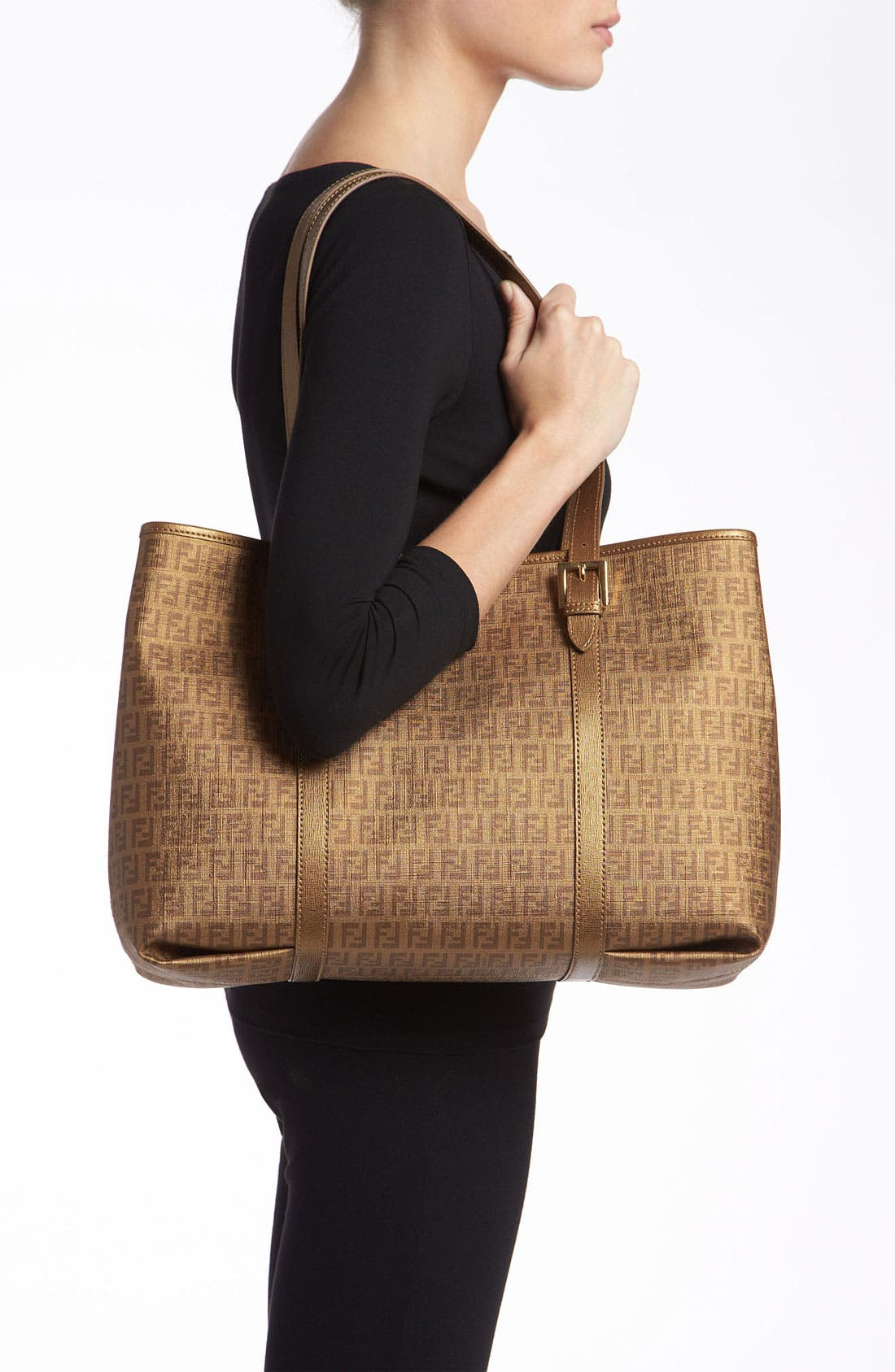 Alternate Image 2  - Fendi 'Forever' Coated Logo Jacquard Shopper