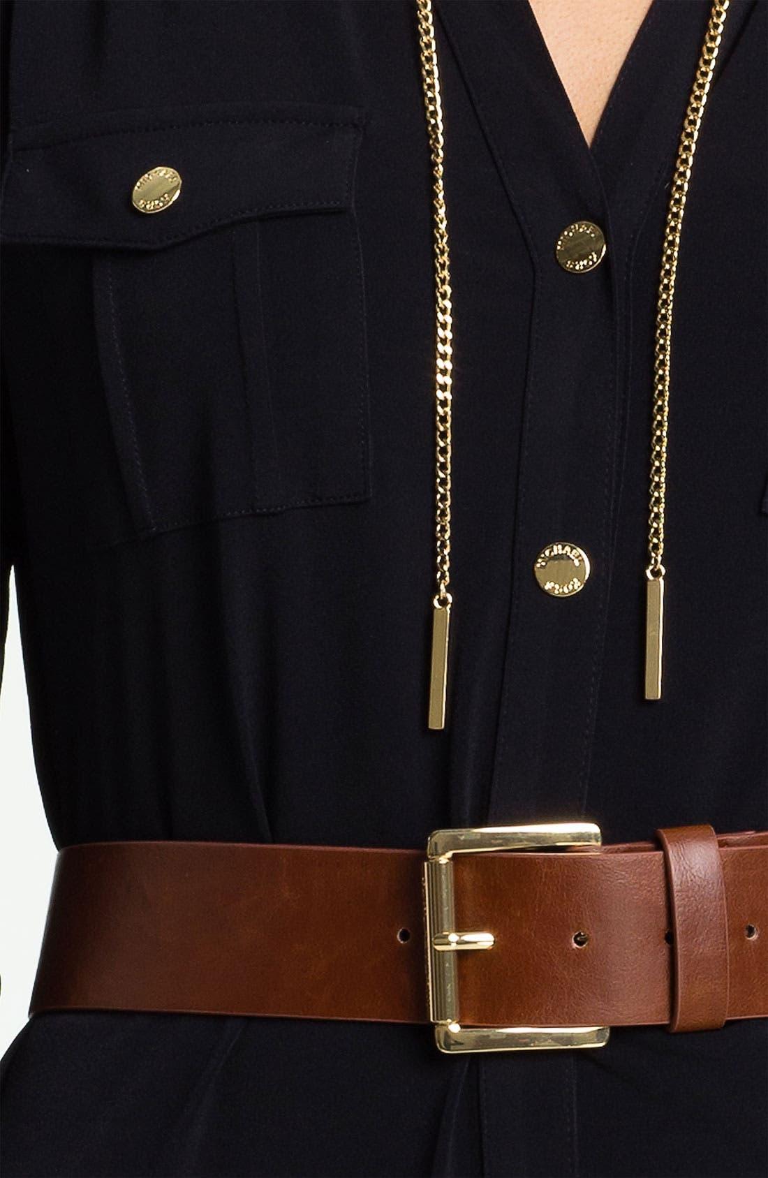Alternate Image 3  - MICHAEL Michael Kors 'Chain' Shirtdress