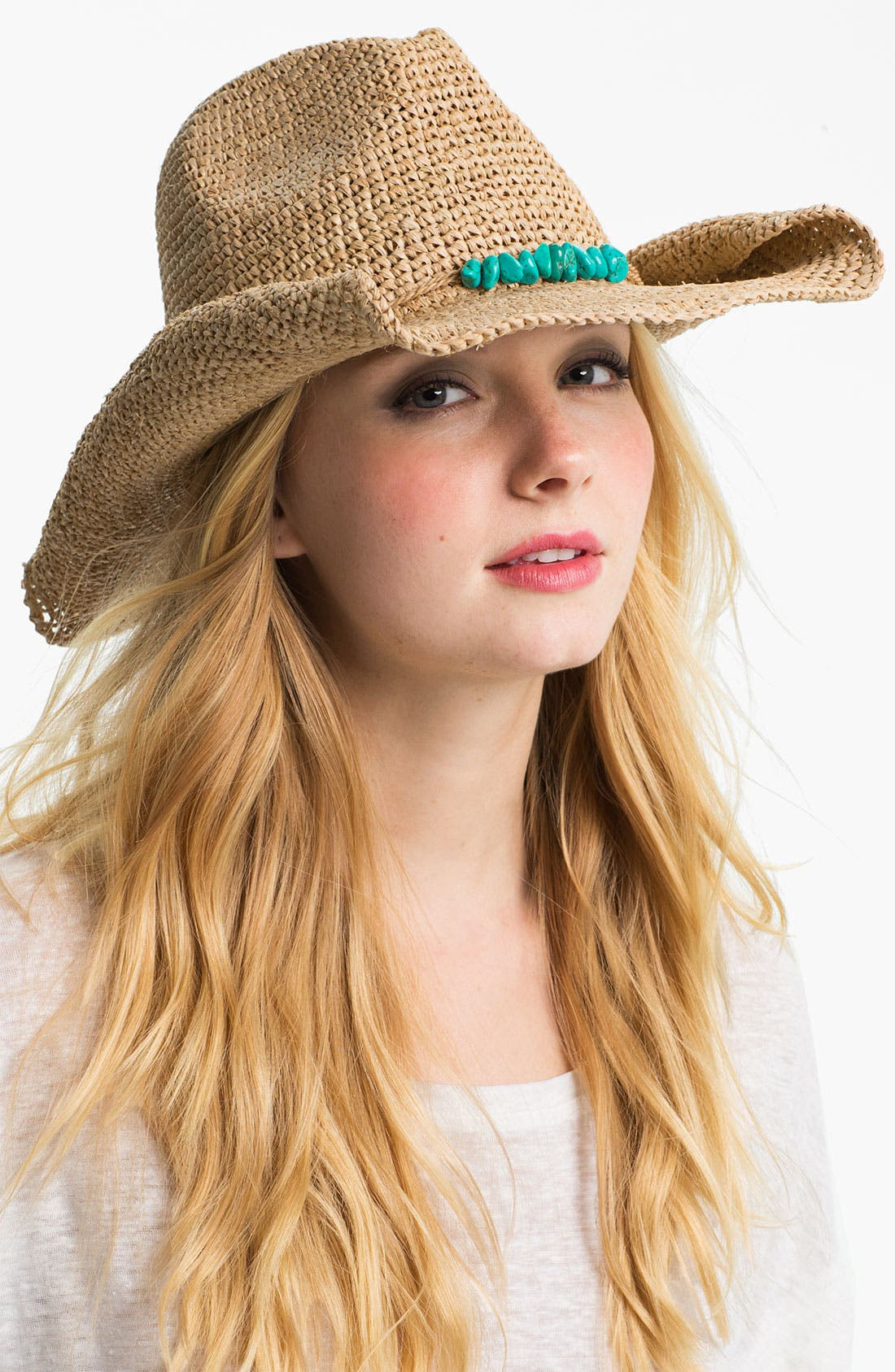 Alternate Image 1 Selected - Flora Bella Raffia Cowboy Hat