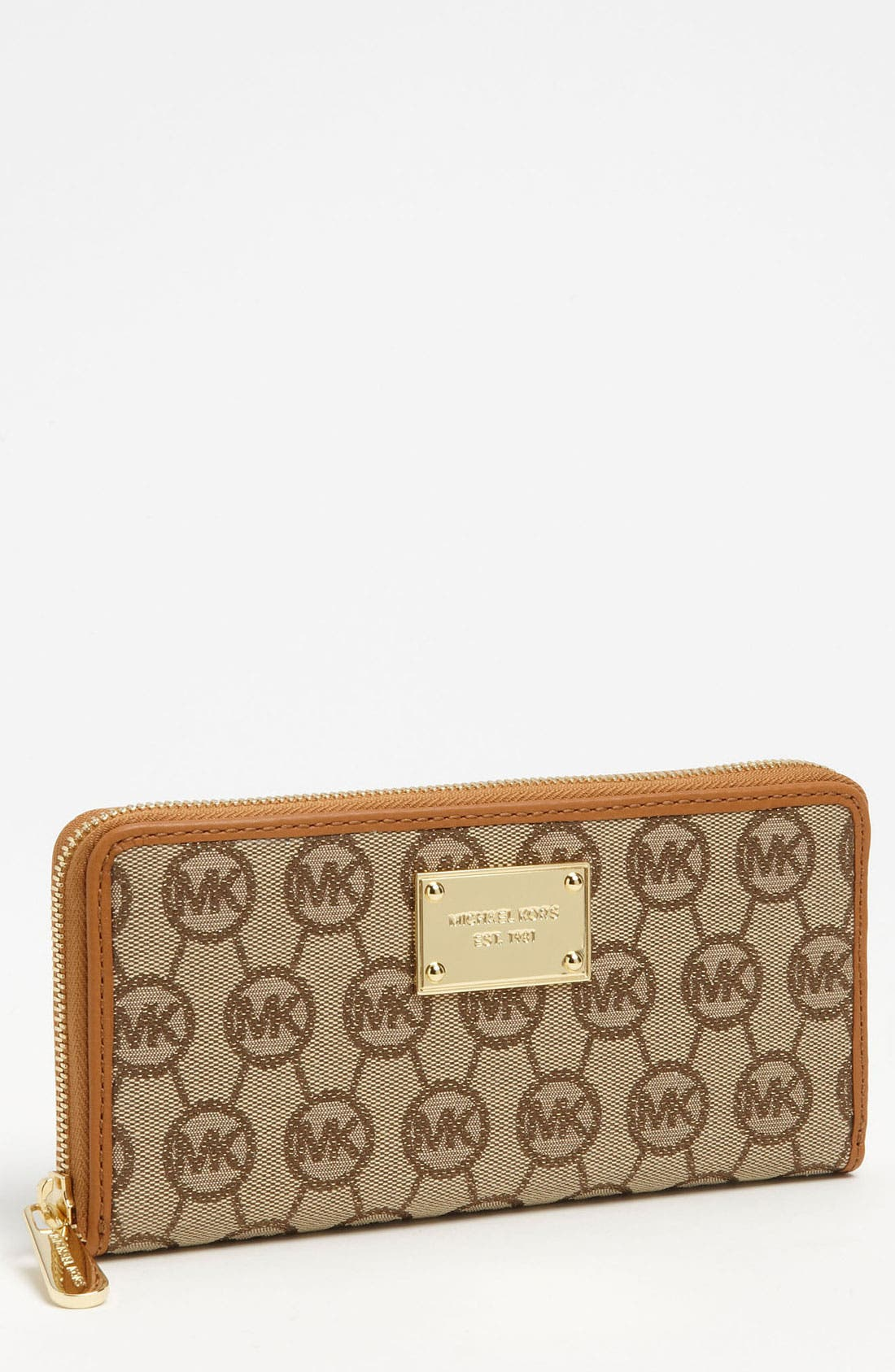 Alternate Image 1 Selected - MICHAEL Michael Kors Monogram Jacquard Wallet