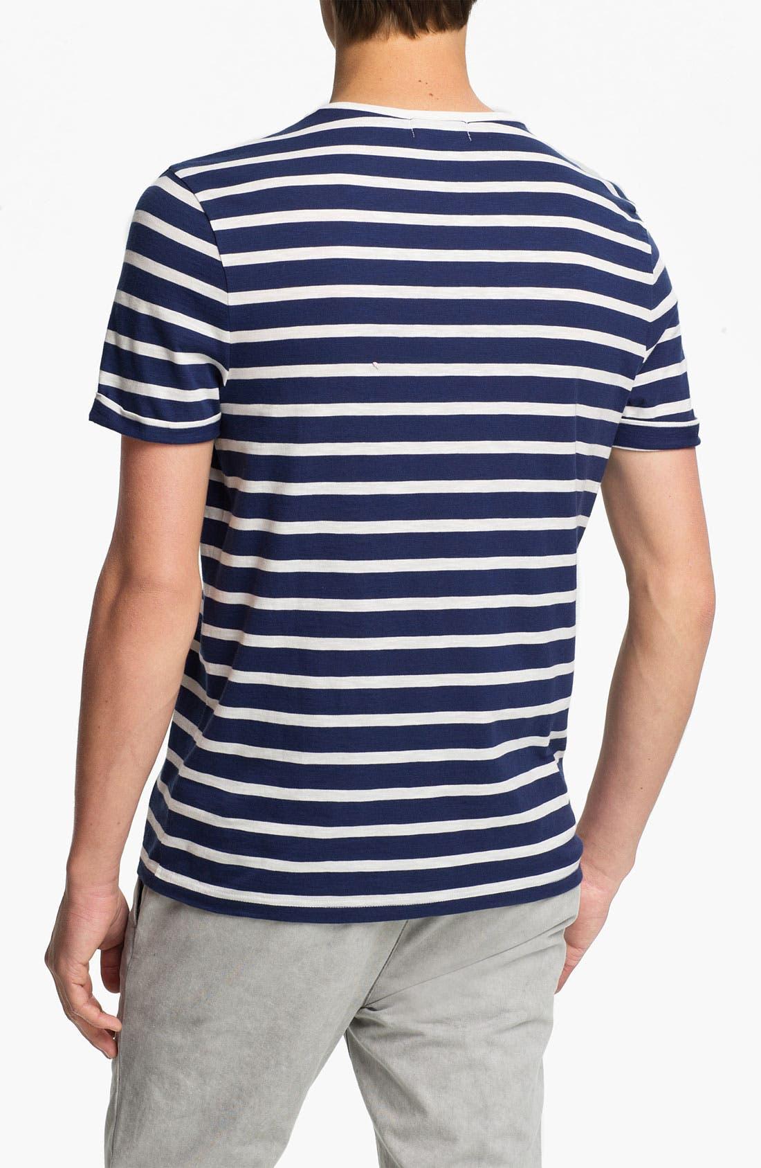 Alternate Image 2  - Topman 'High Roller' Sailor Stripe T-Shirt